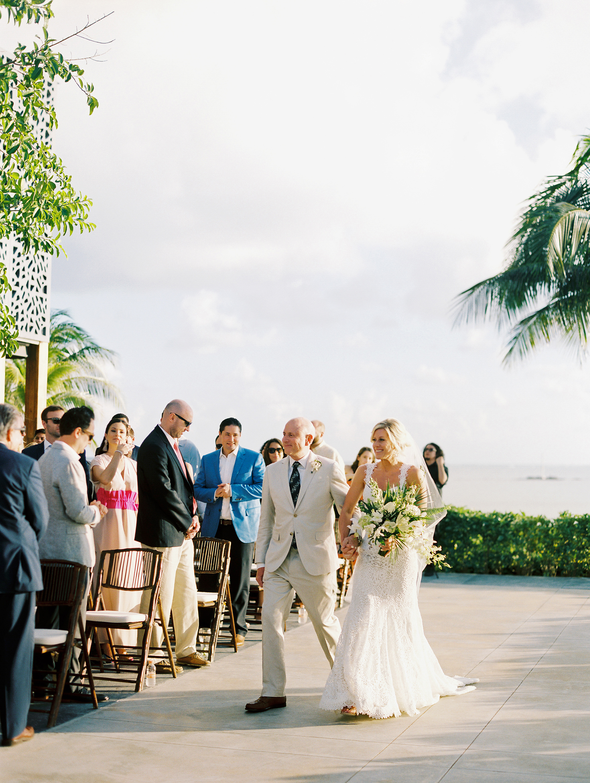 sara danny mexico wedding processional