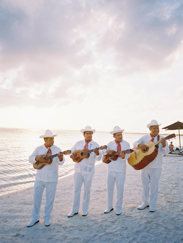 sara danny mexico wedding musicians on the beach