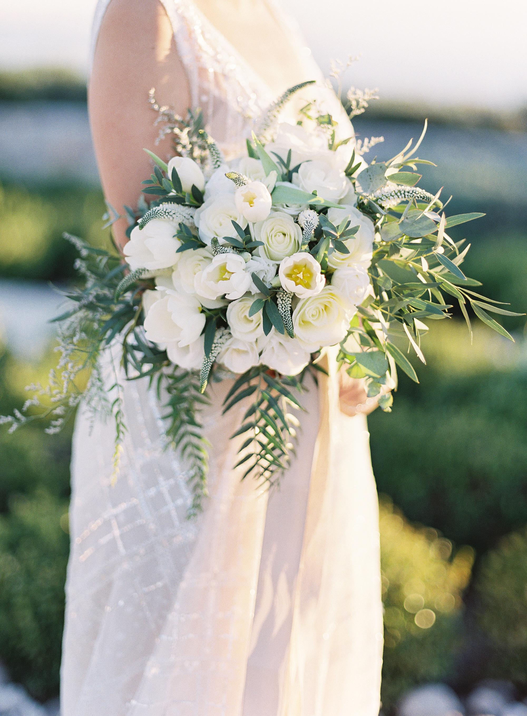 sze amanzoe wedding bouquet greece elegant