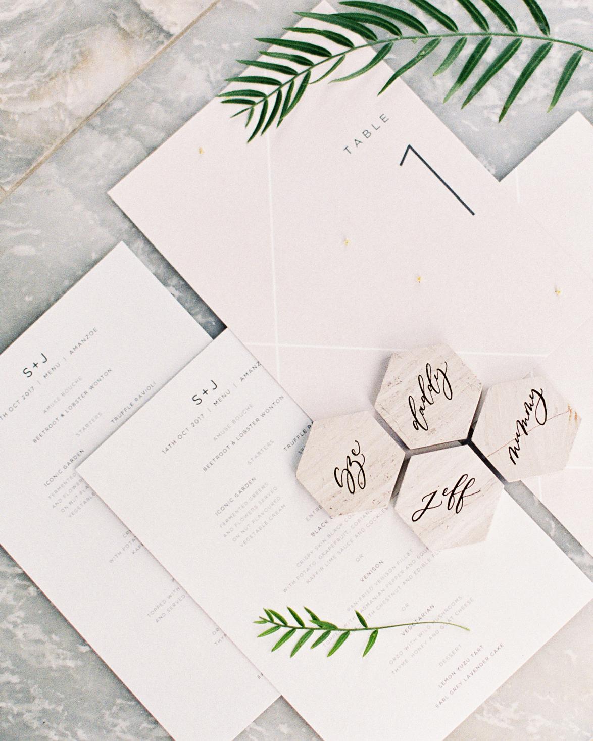 sze amanzoe wedding paper goods greece elegant