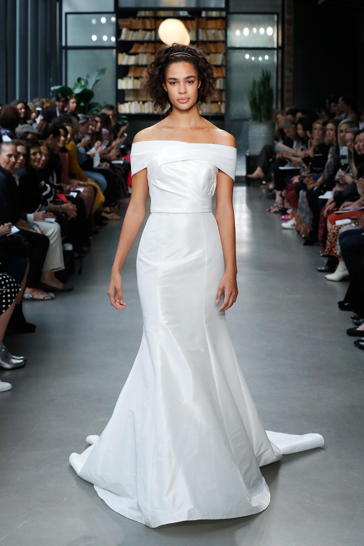nouvelle amsale wedding dress off the shoulder a-line satin