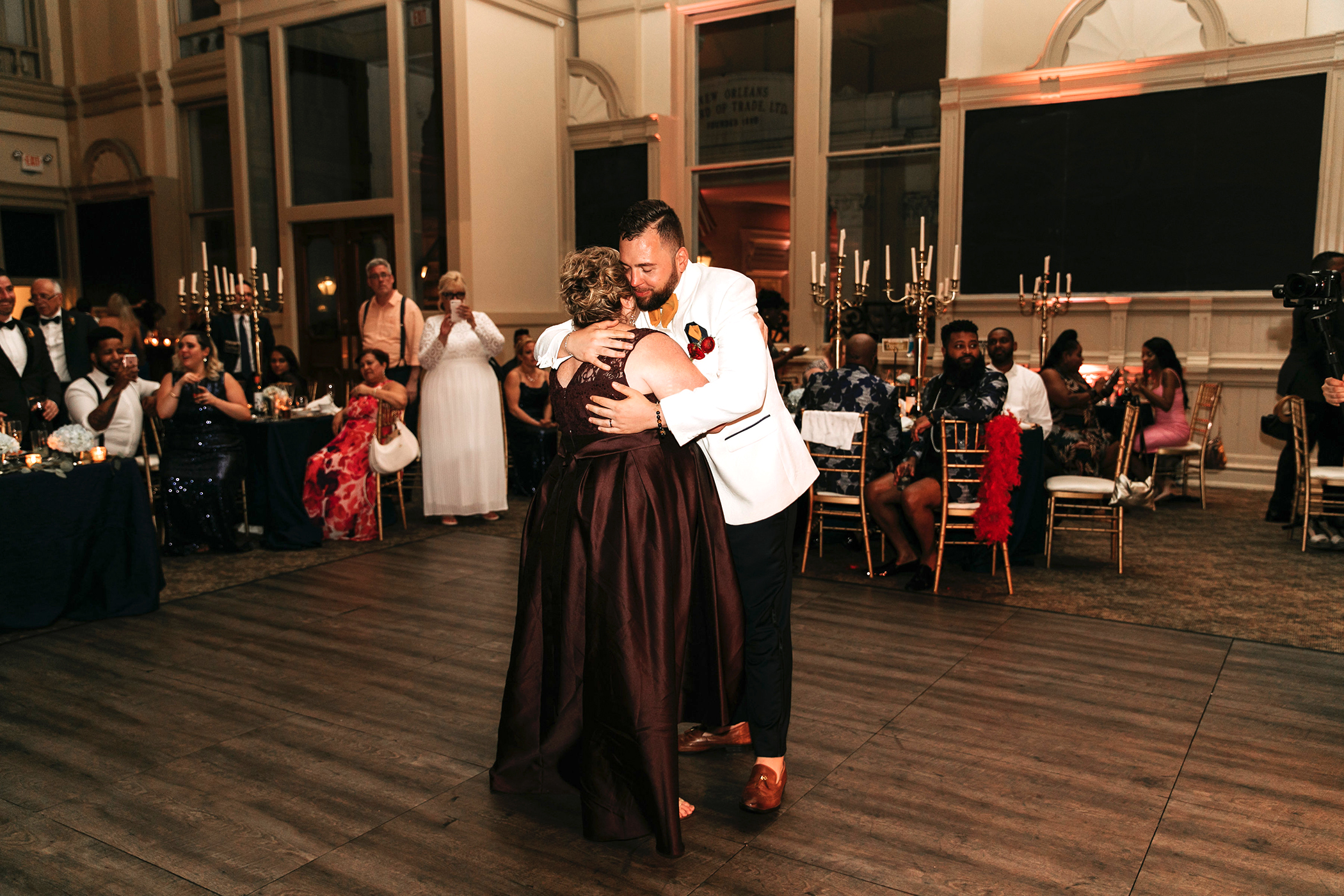joe tim new orleans wedding mom dance