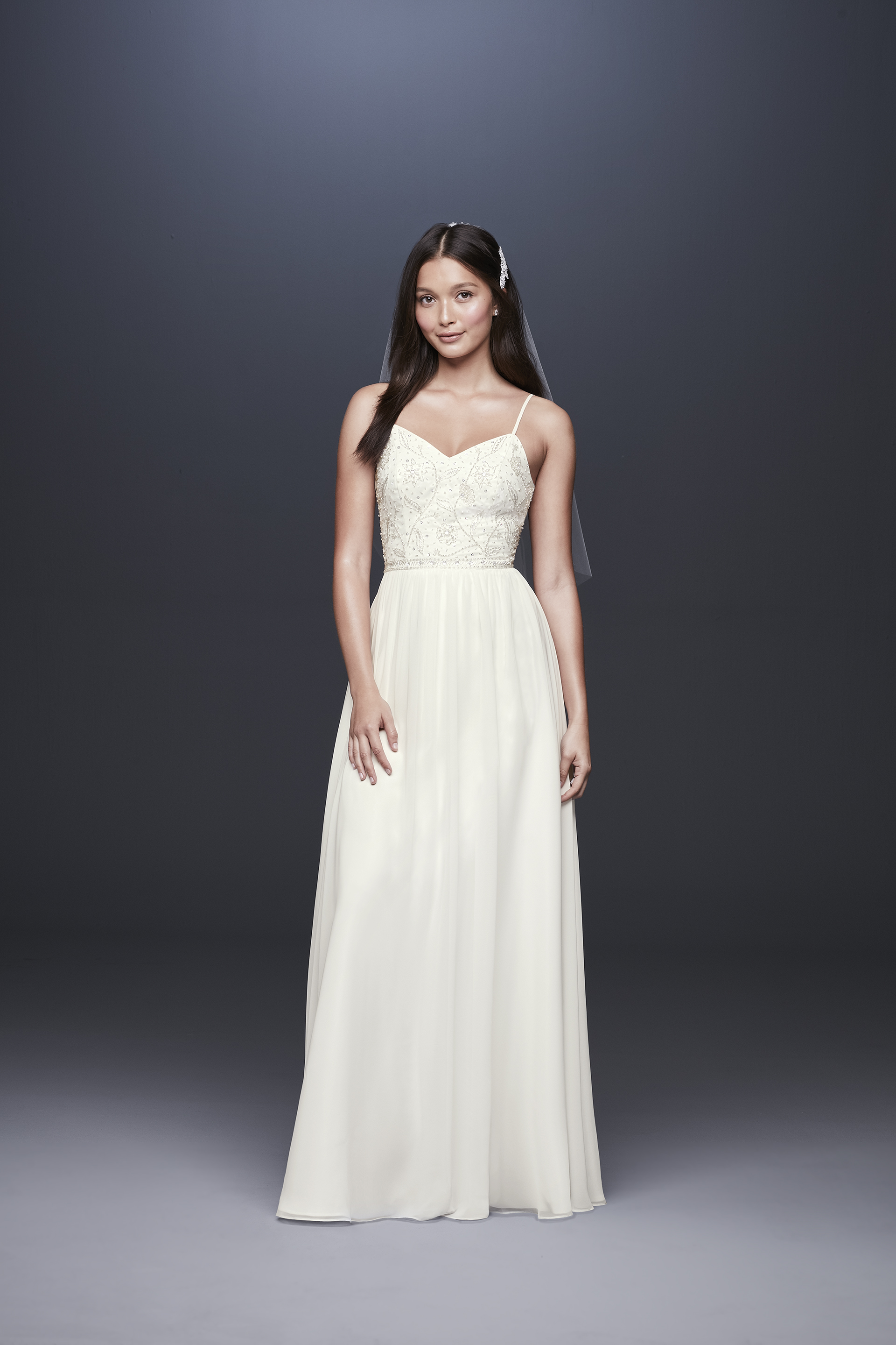 davids bridal db studio fall 2019 a line sweet heart spaghetti strap beaded