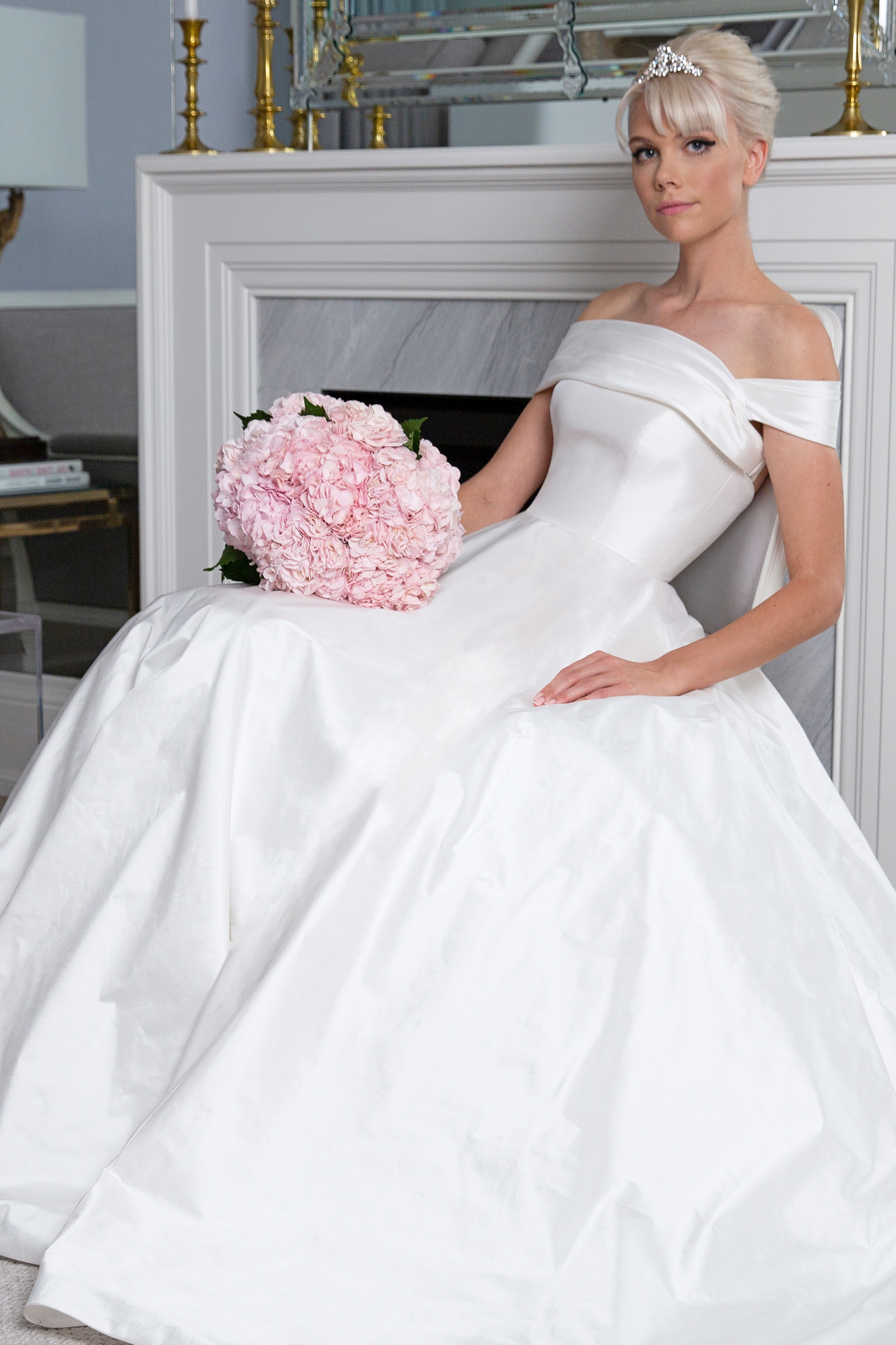Legends Romona Keveža off the shoulder ball gown wedding dress fall 2019