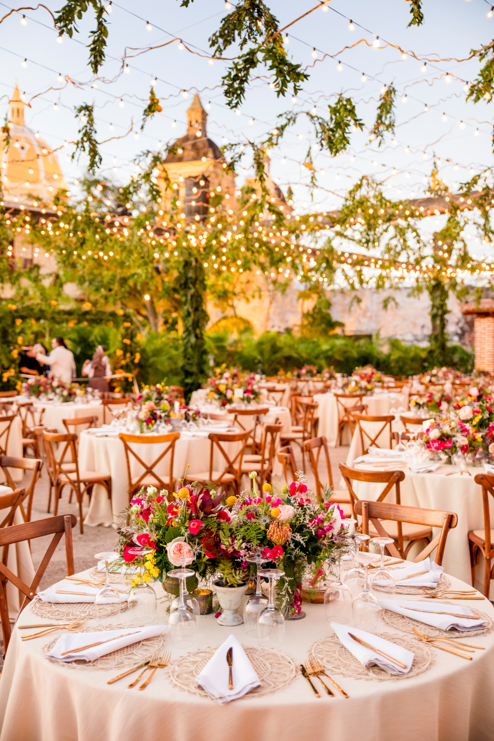 cristina andre wedding table