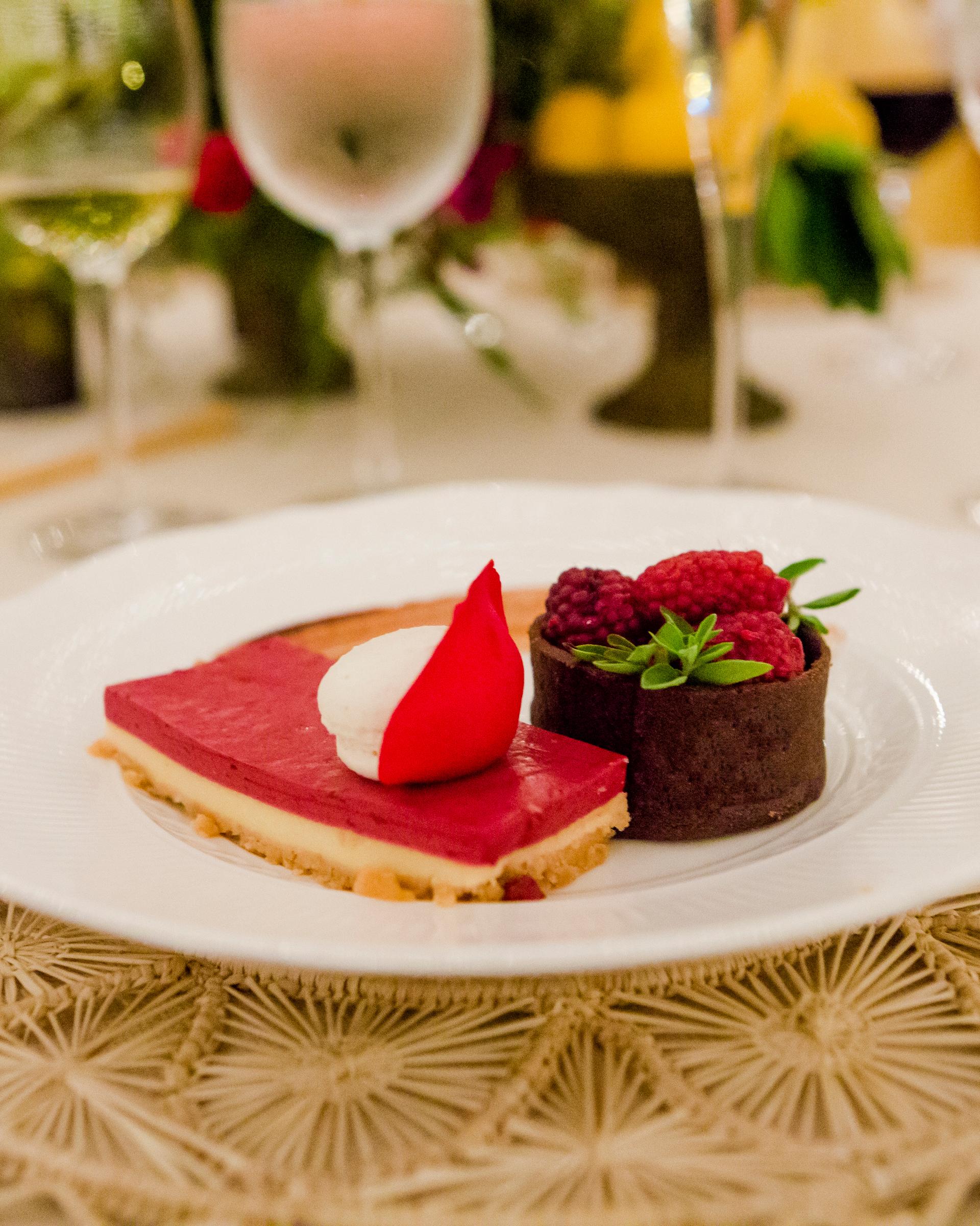cristina andre wedding dessert