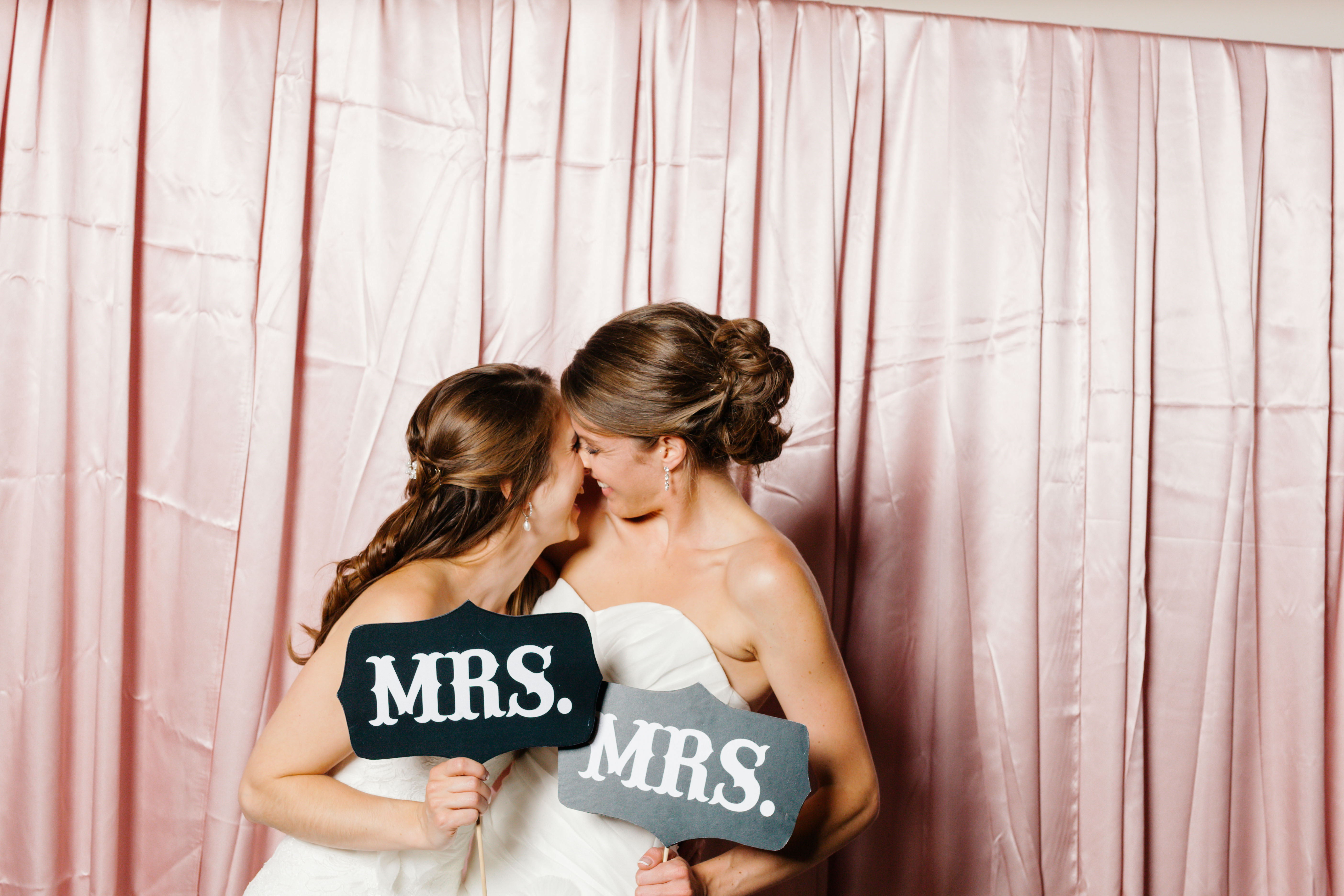 mrs and mrs signs two brides photo booth props