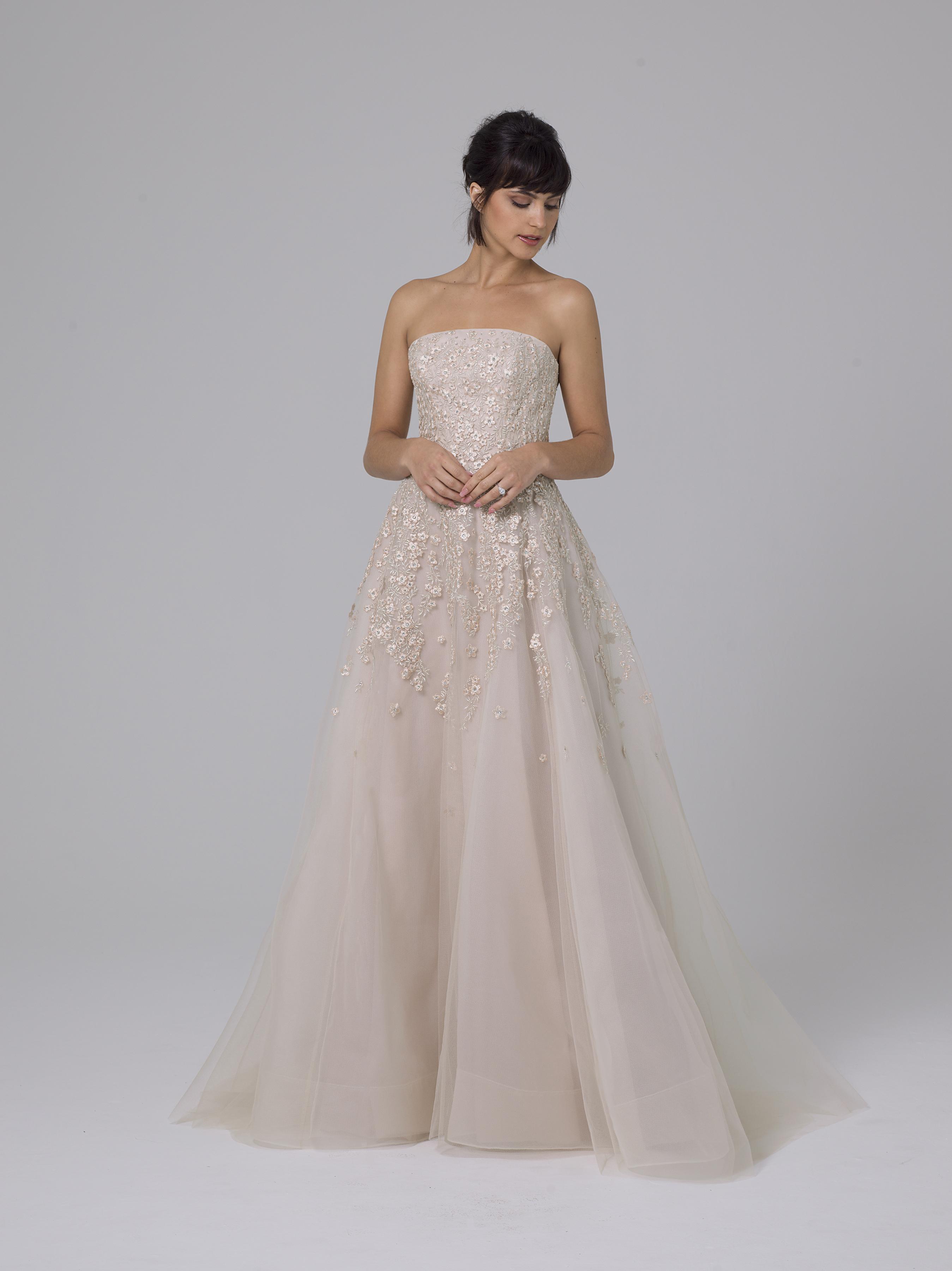 Liancarlo pink wedding dress fall 2019
