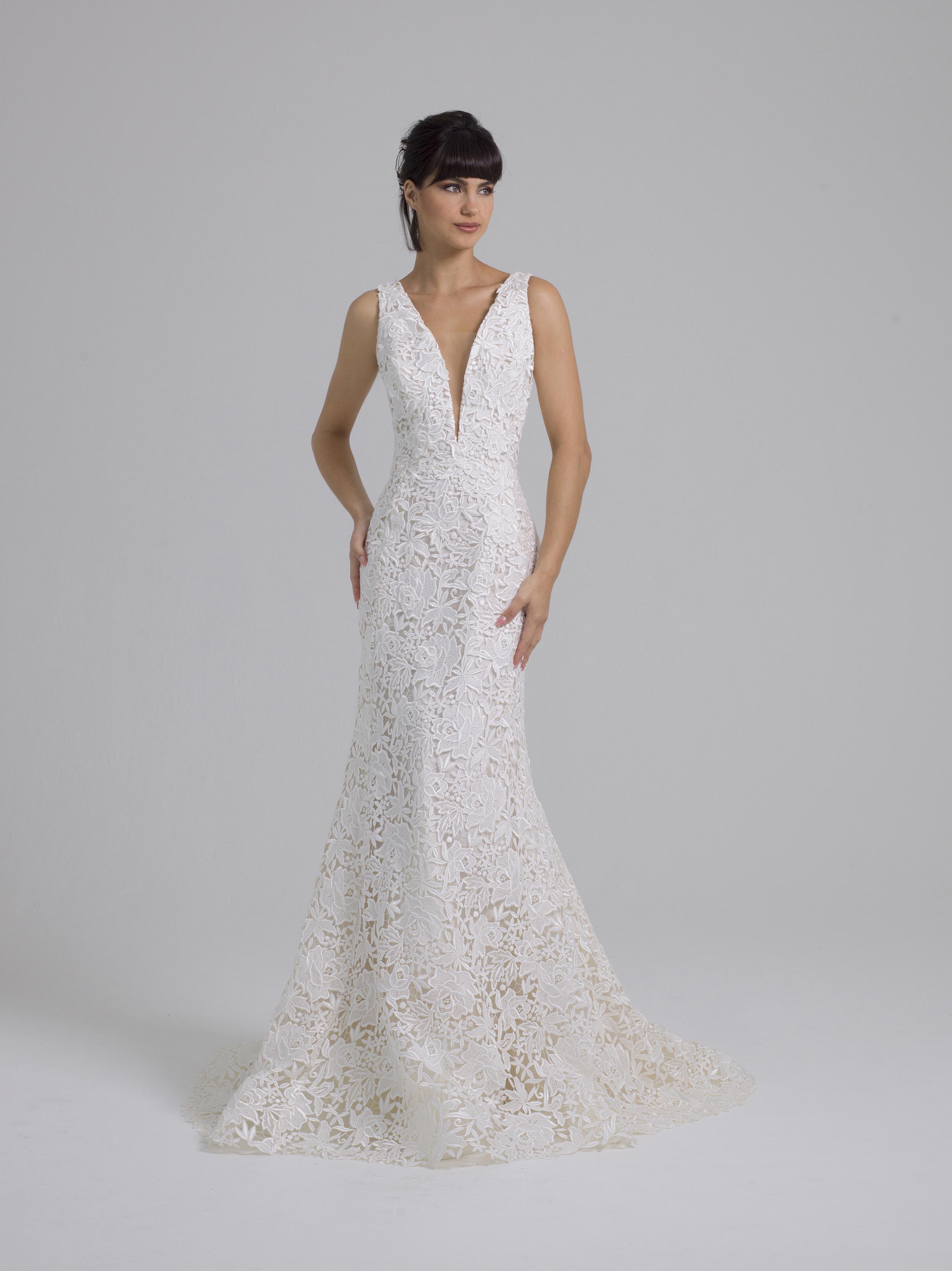 Liancarlo lace v-neck wedding dress fall 2019