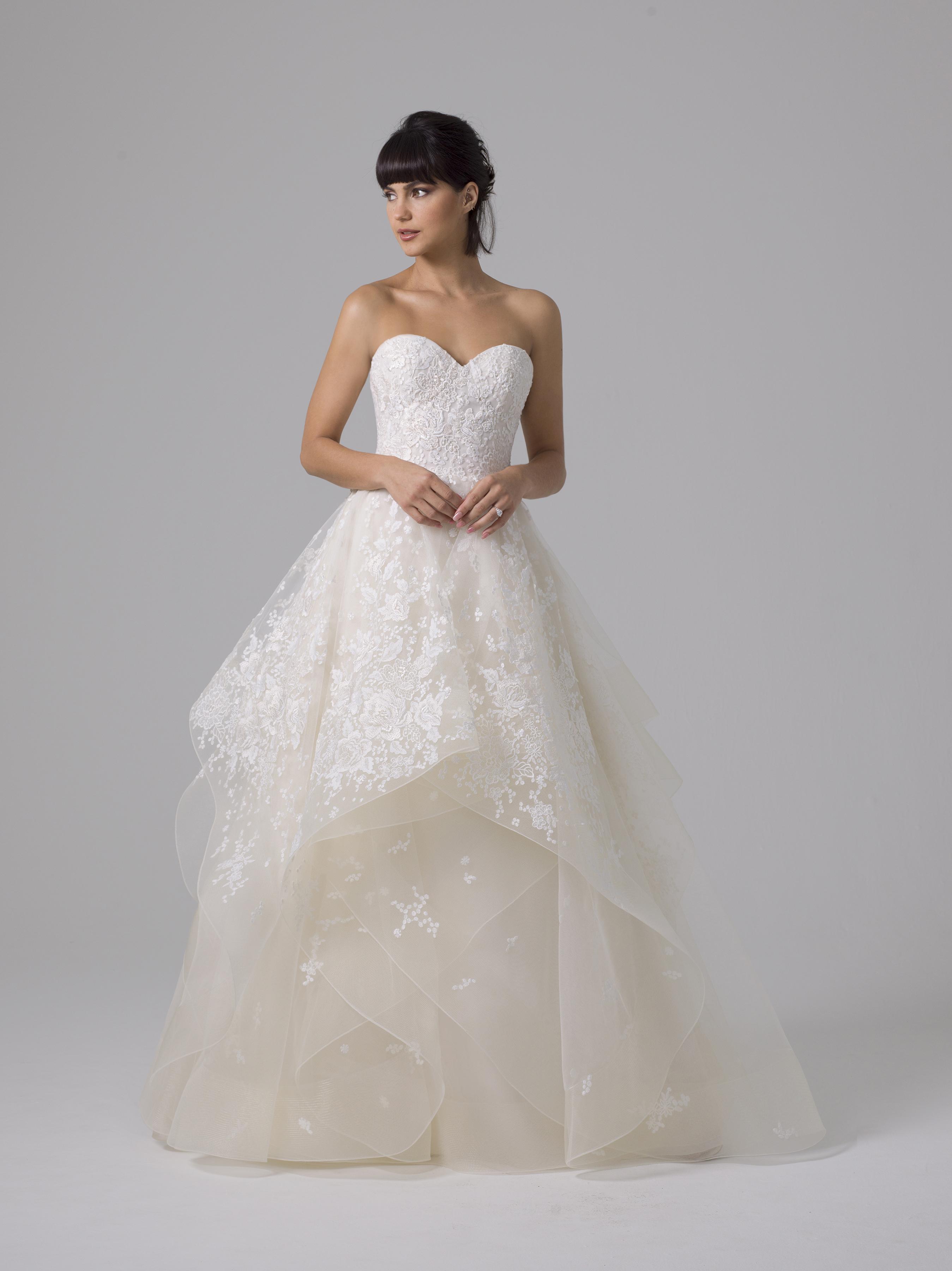 Liancarlo layered ball gown wedding dress fall 2019