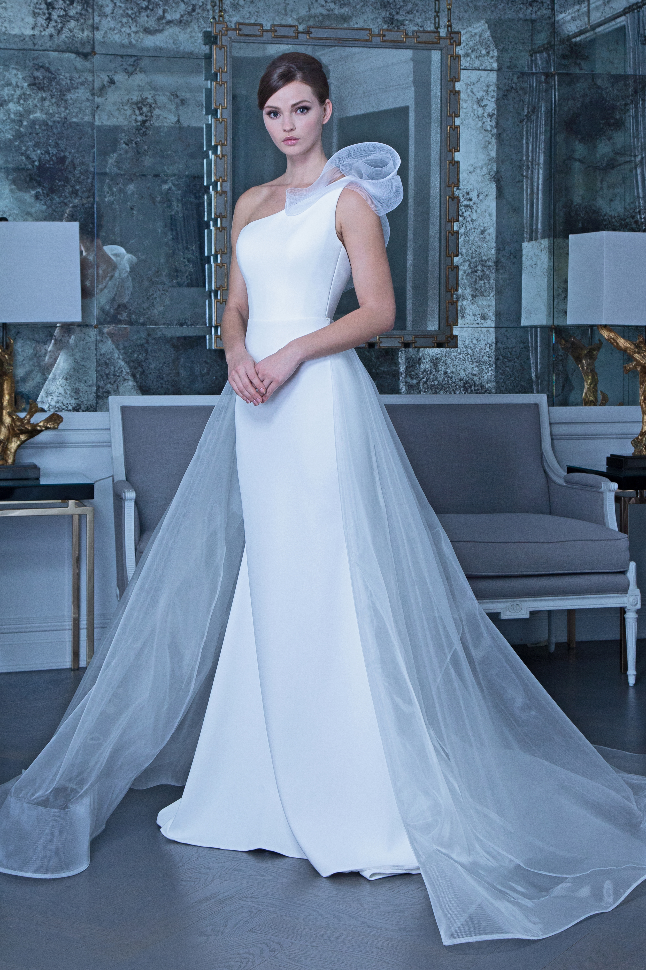 Romona off the shoulder wedding dress fall 2019