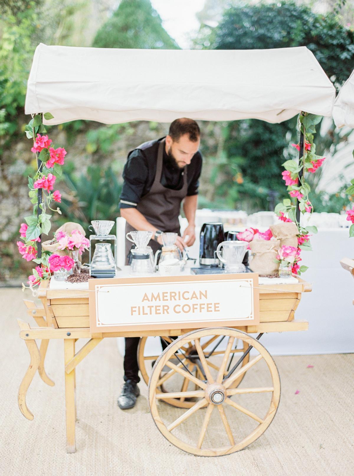 stephanie nikolaus wedding ceremony coffee