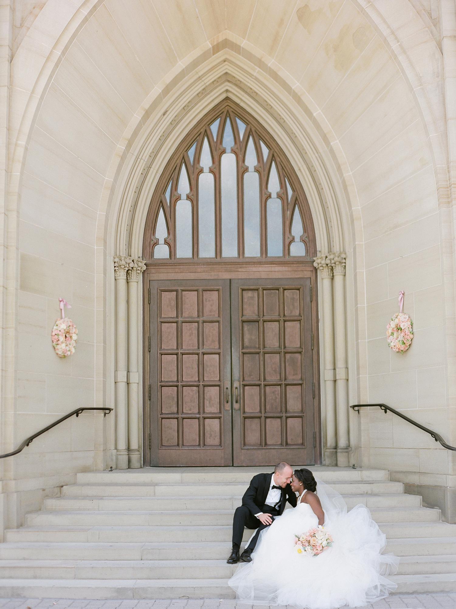 anwuli patrick wedding couple on church steps
