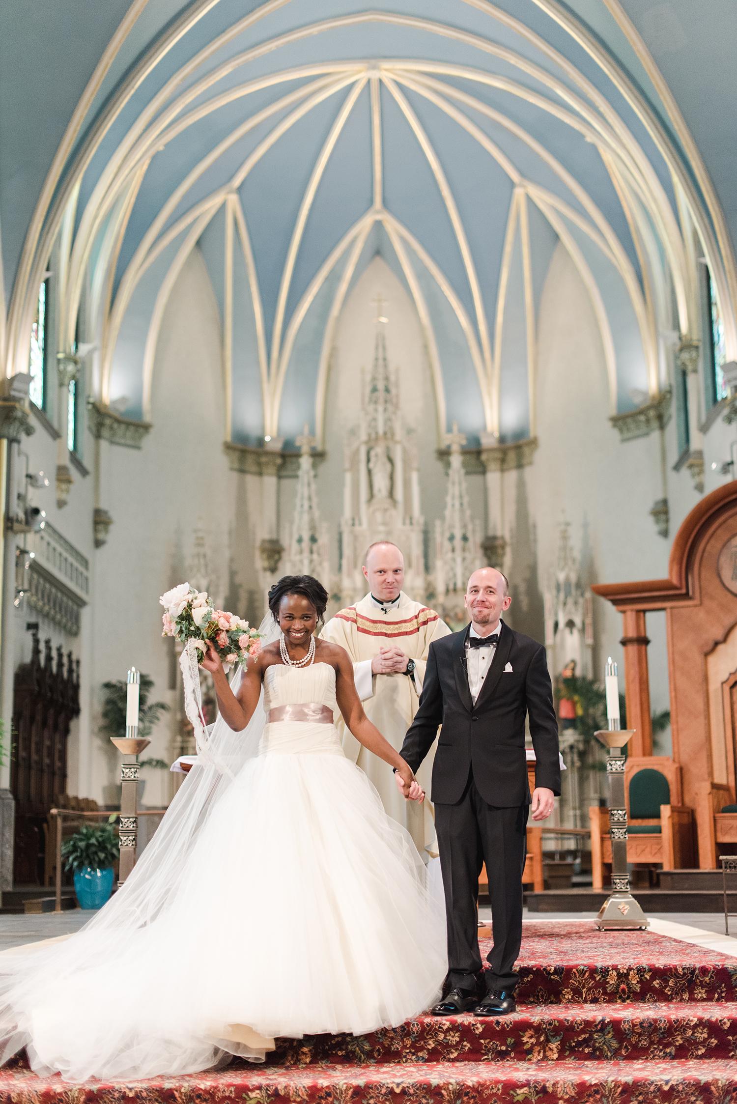anwuli patrick wedding church ceremony bride and groom
