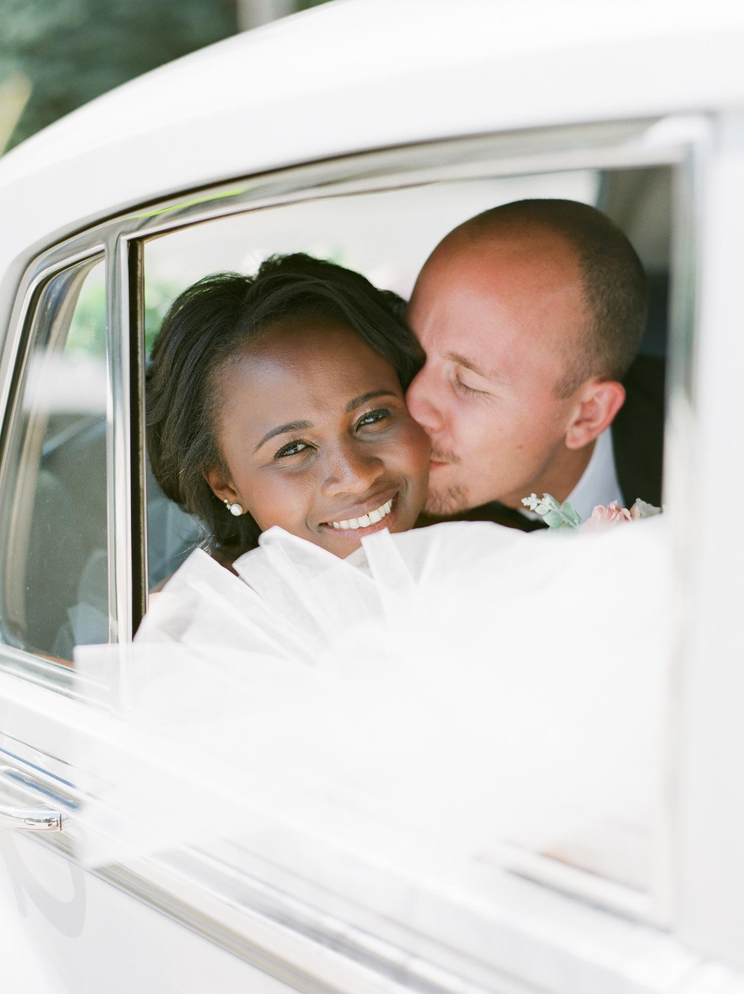 anwuli patrick wedding couple in the car