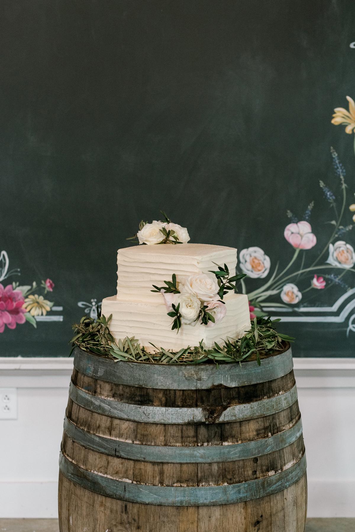 paige and kristine wedding cake