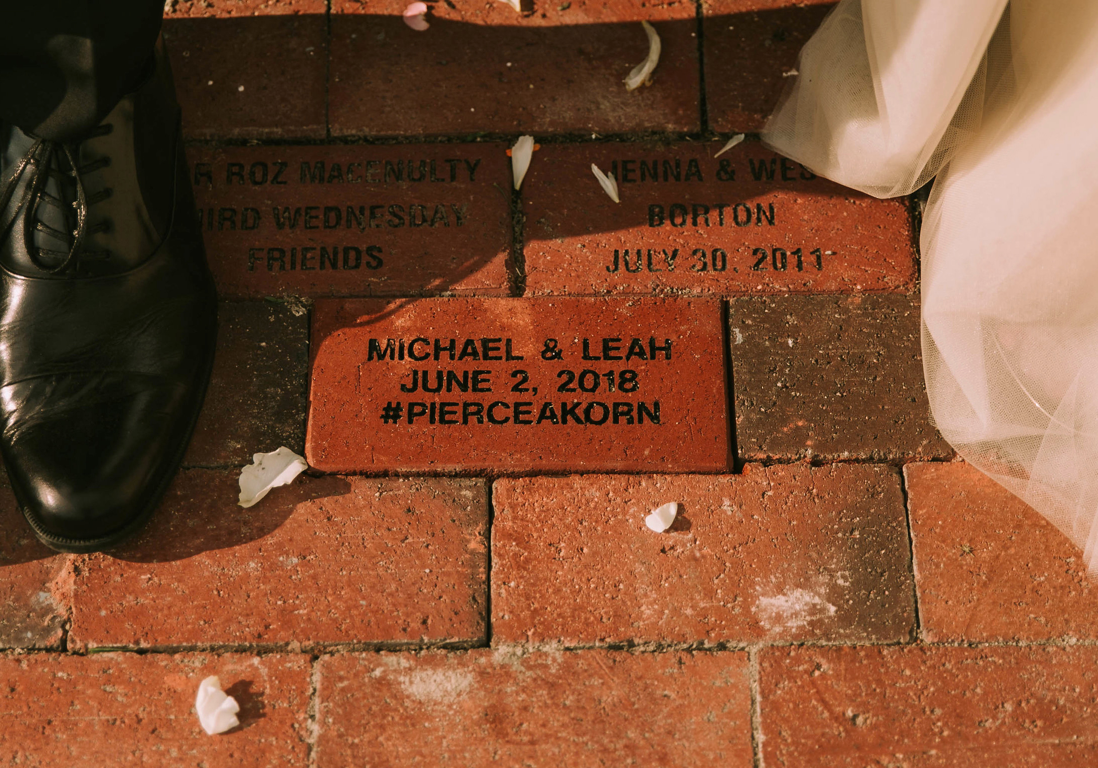 leah michael wedding brick