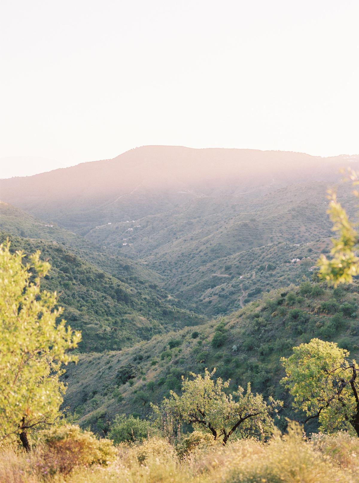 daphne jack wedding spain mountainous landscape