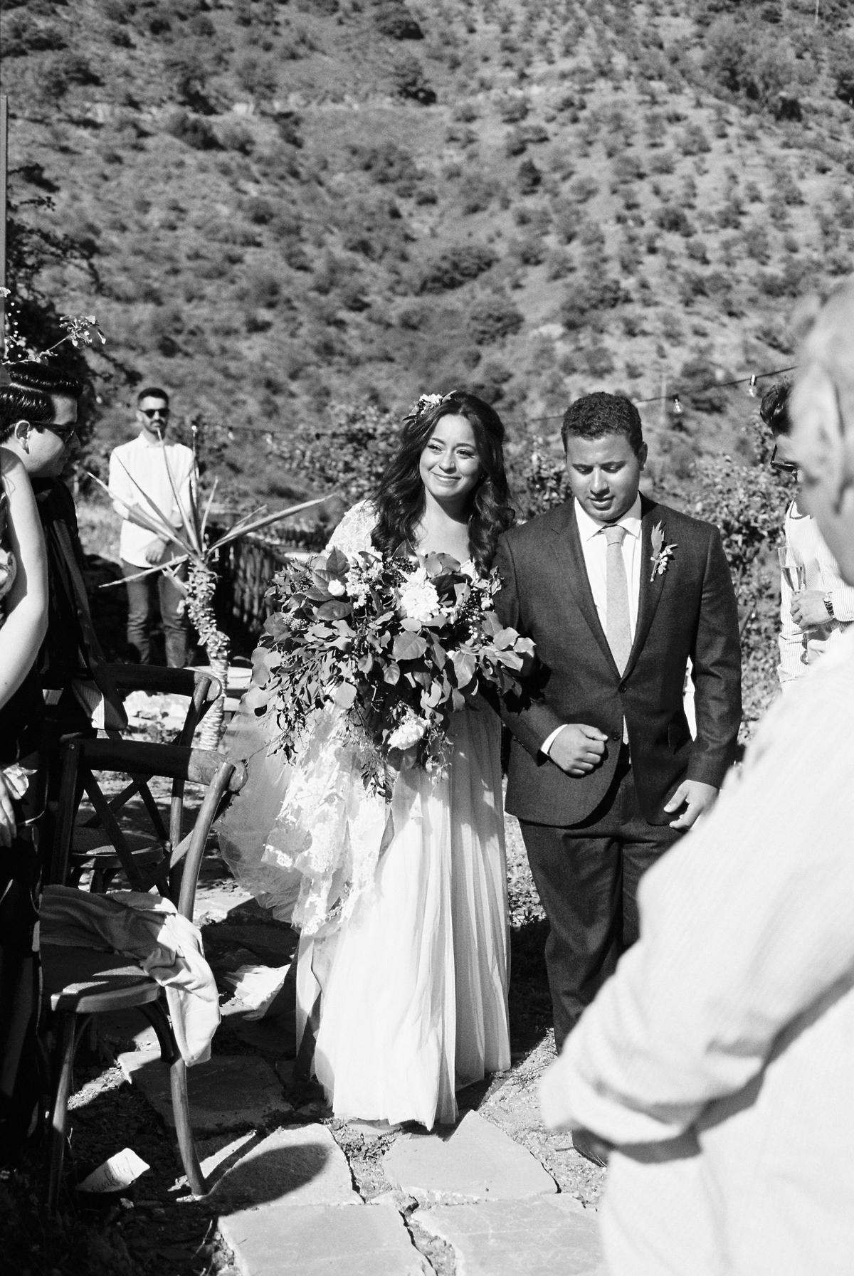 daphne jack wedding spain processional