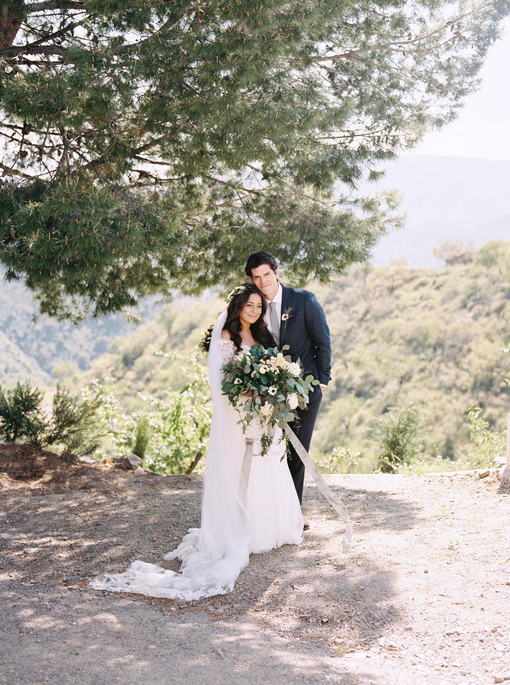 daphne jack wedding spain couple under tree