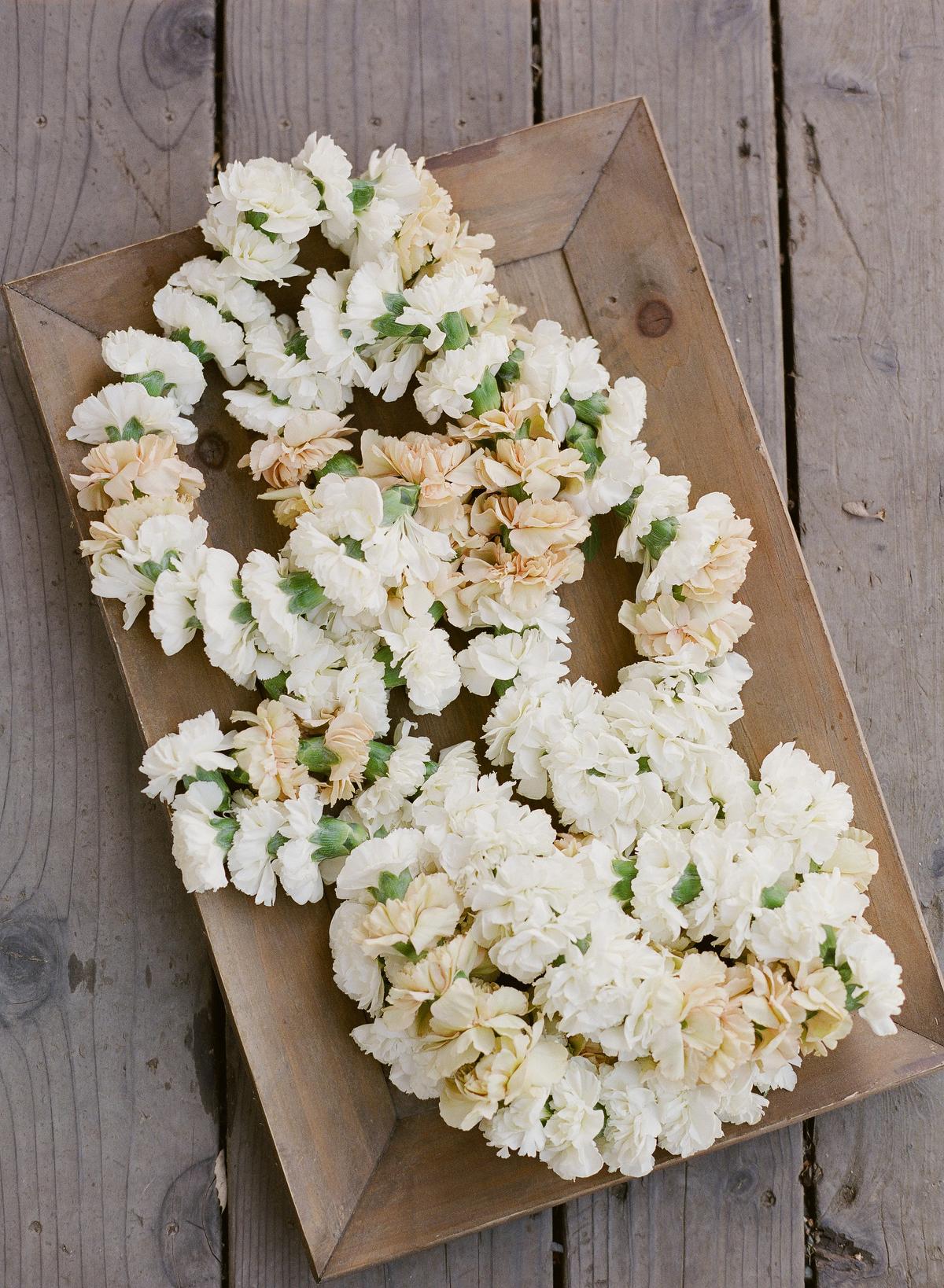 nadine dan wedding welcome party garlands