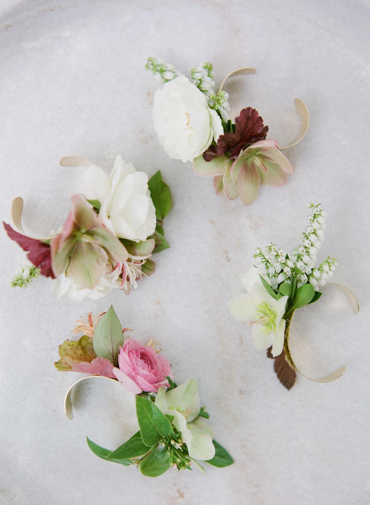 nadine dan wedding floral cuffs