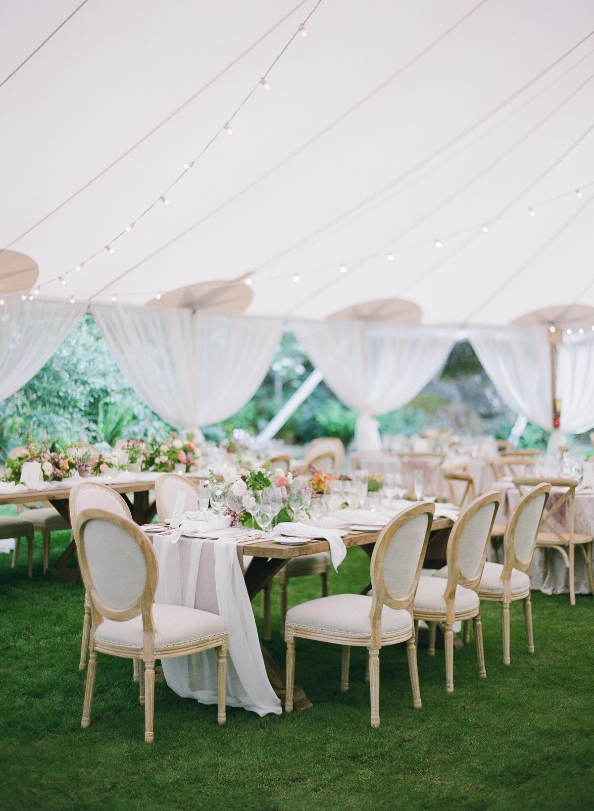 nadine dan wedding reception long table
