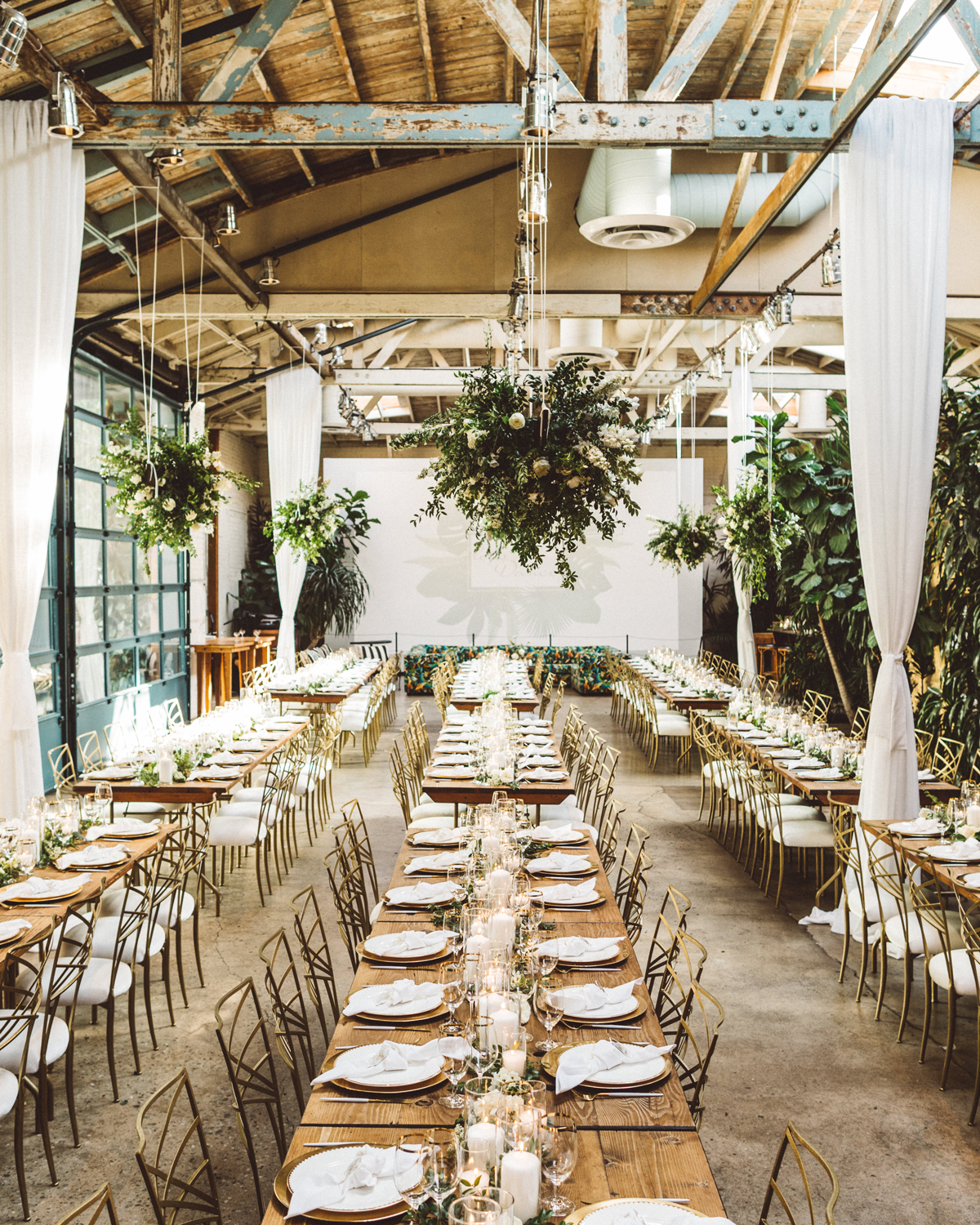 Lush Greenery Transformed a Downtown Los Angeles Warehouse Into This Couple's Ultimate Wedding Venue