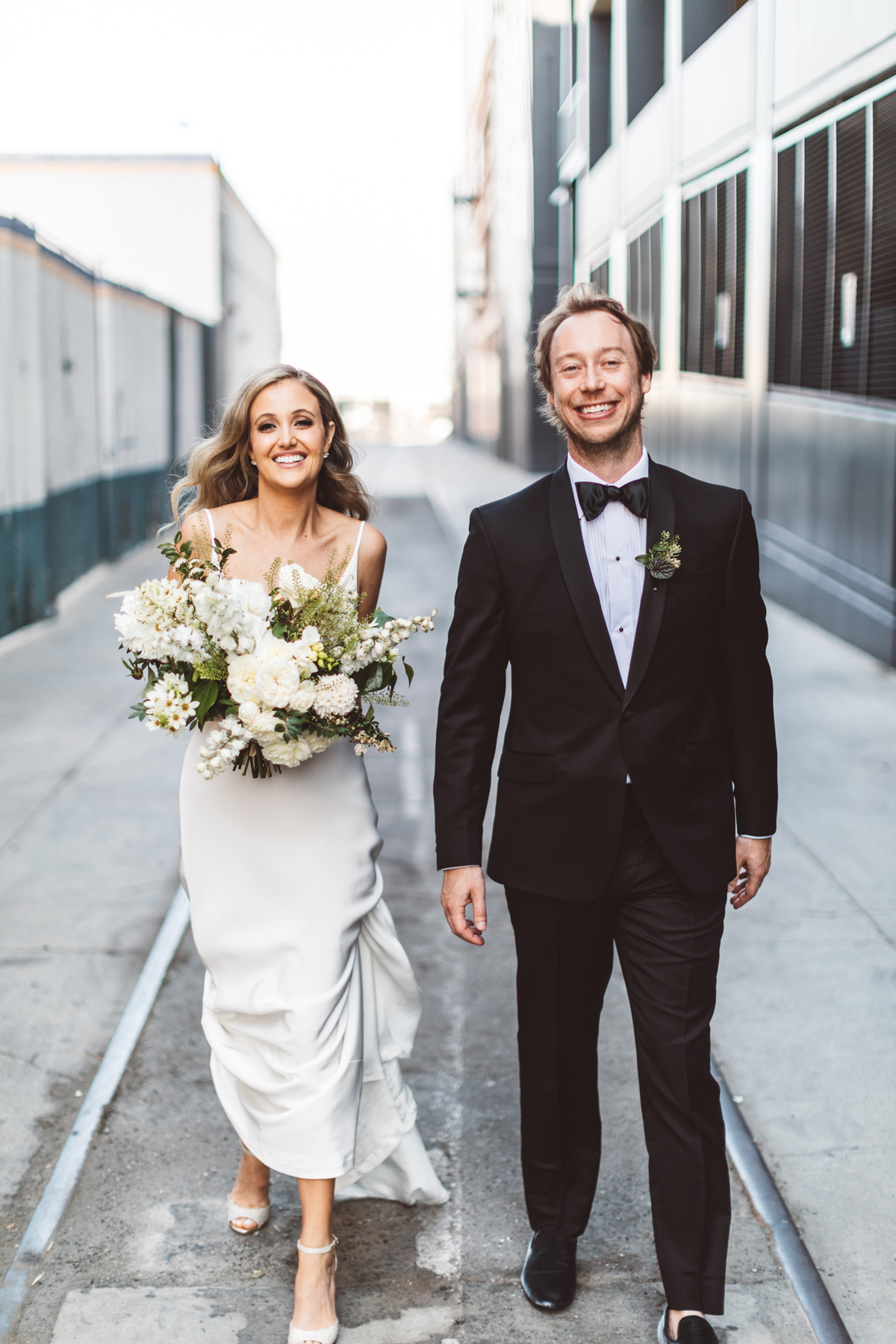 kaily matt wedding los angeles couple smiling