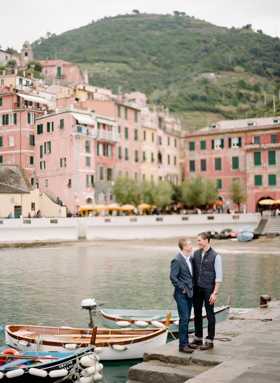 destination engagement couple italian cityscape dock