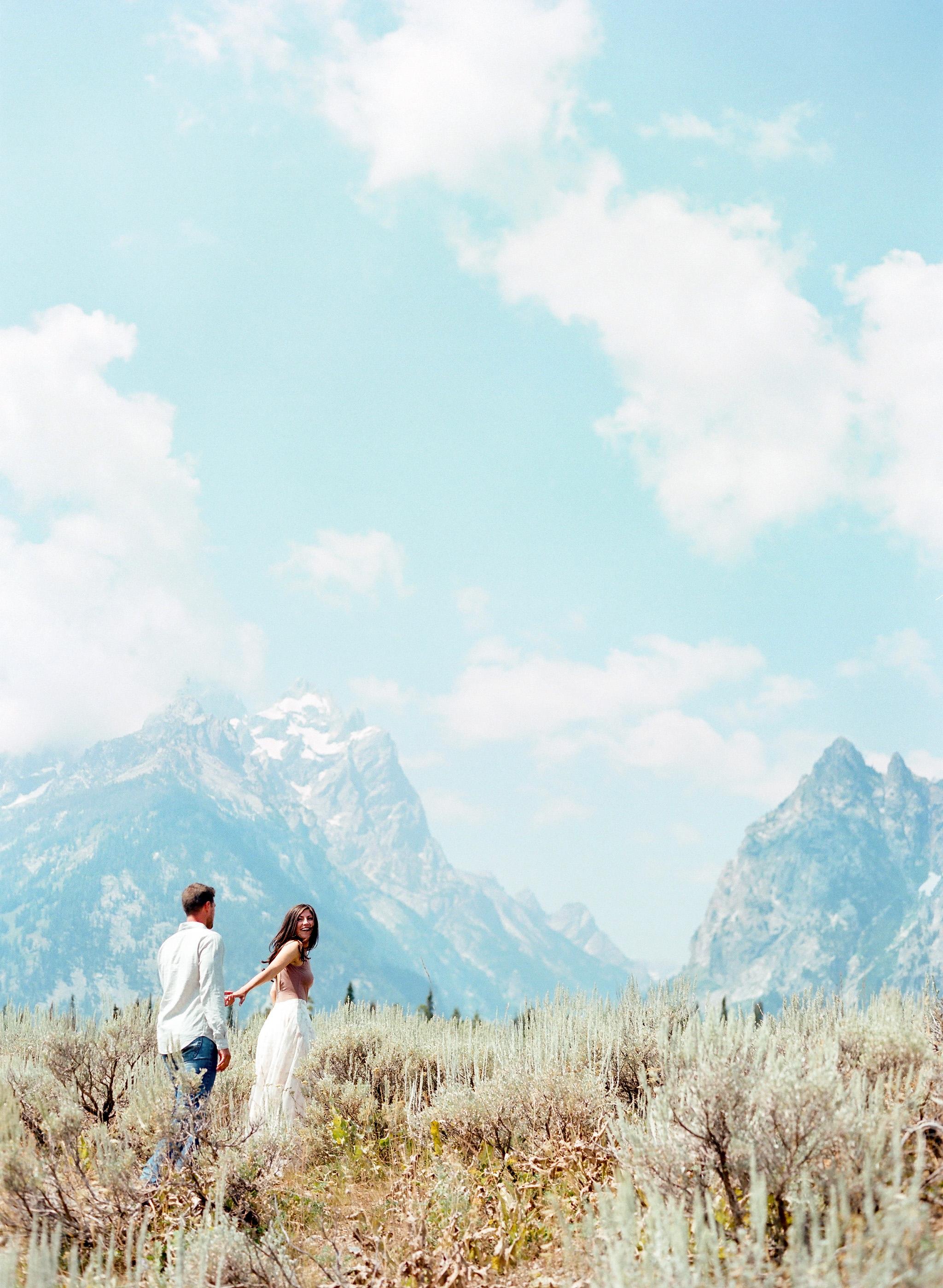 destination engagement couple national park mountain view