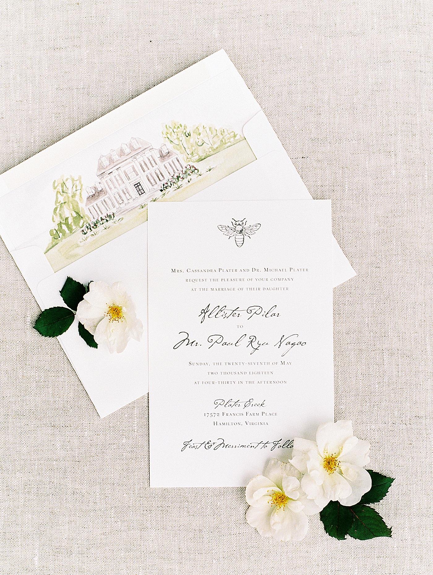 pillar paul wedding invitations
