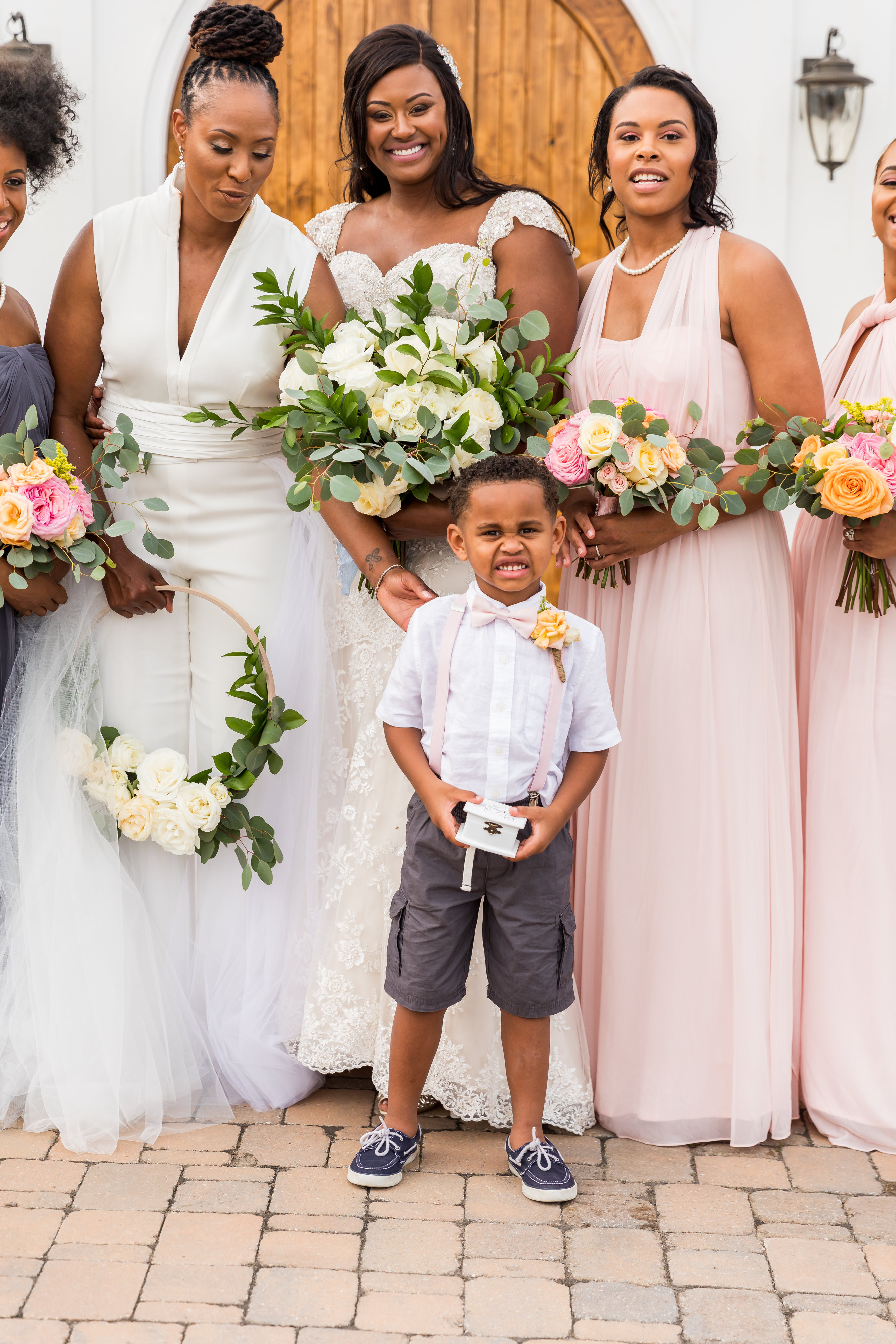 cara chamique wedding ring bearer with brides