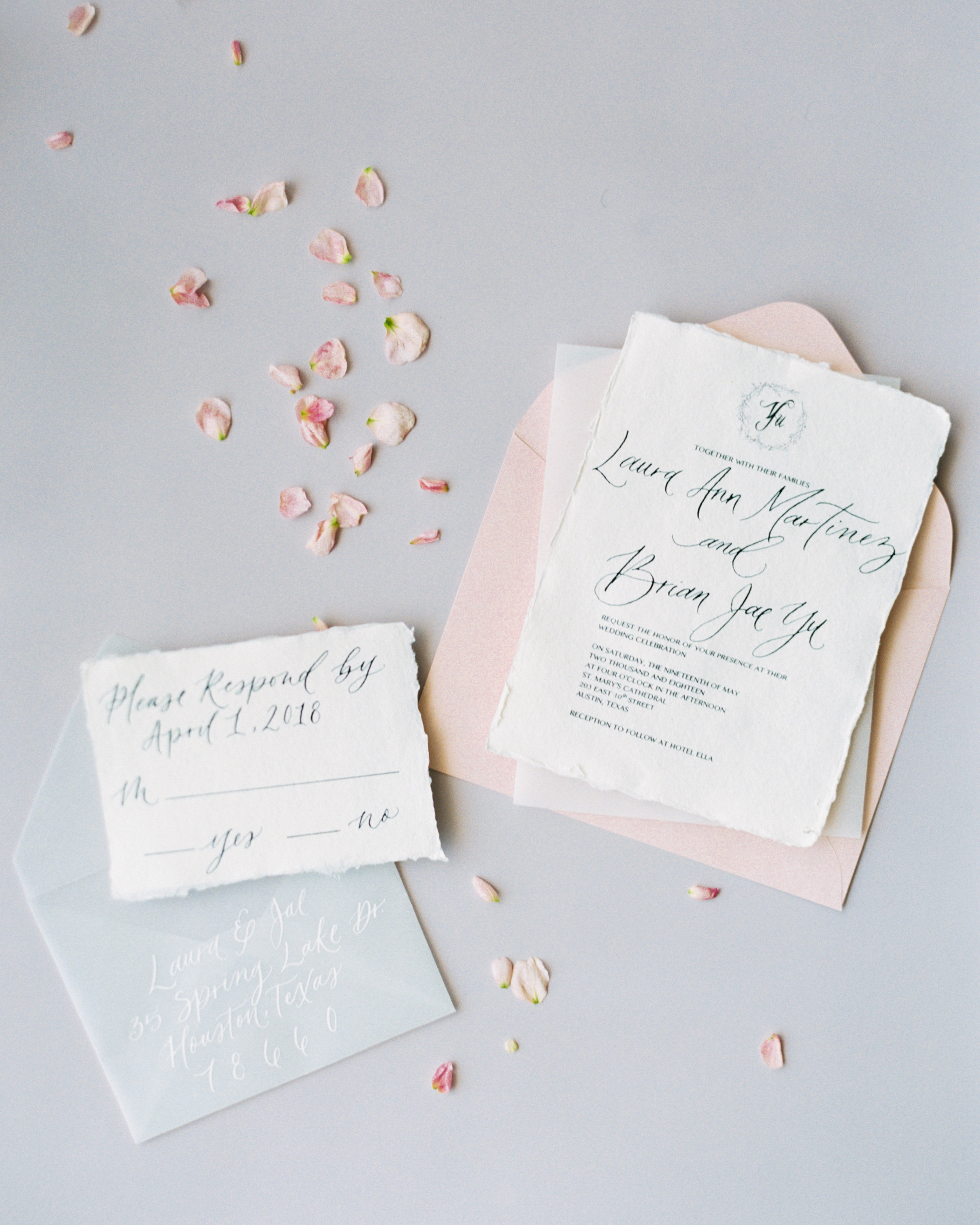 wedding invitation design wax seal willow tree elements