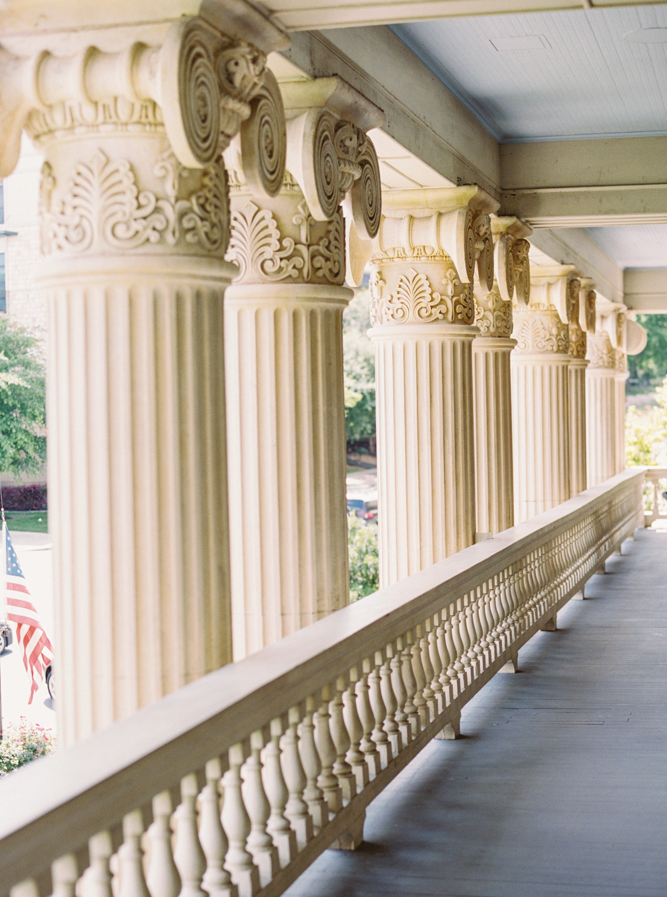 historical building balcony european style architecture