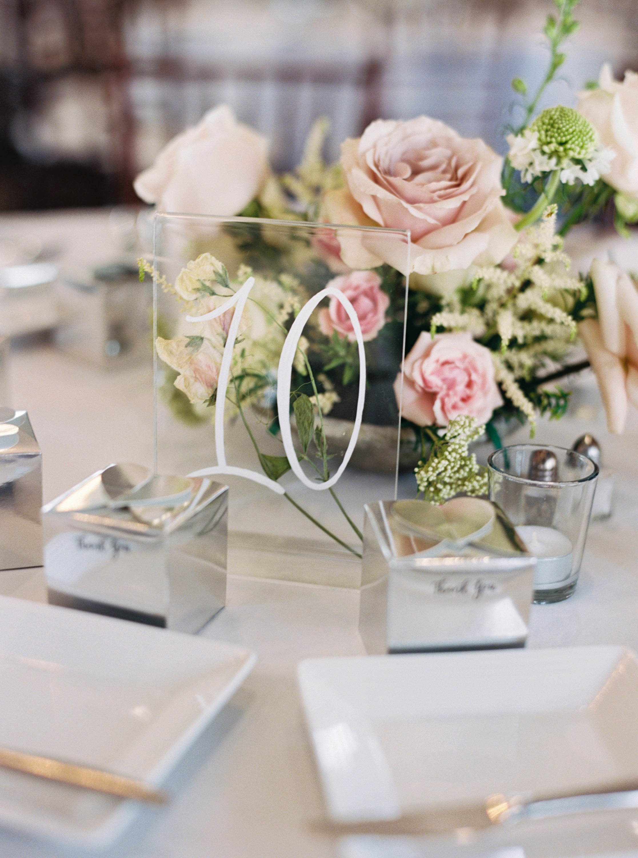 acrylic table numbers table setting thank you gifts
