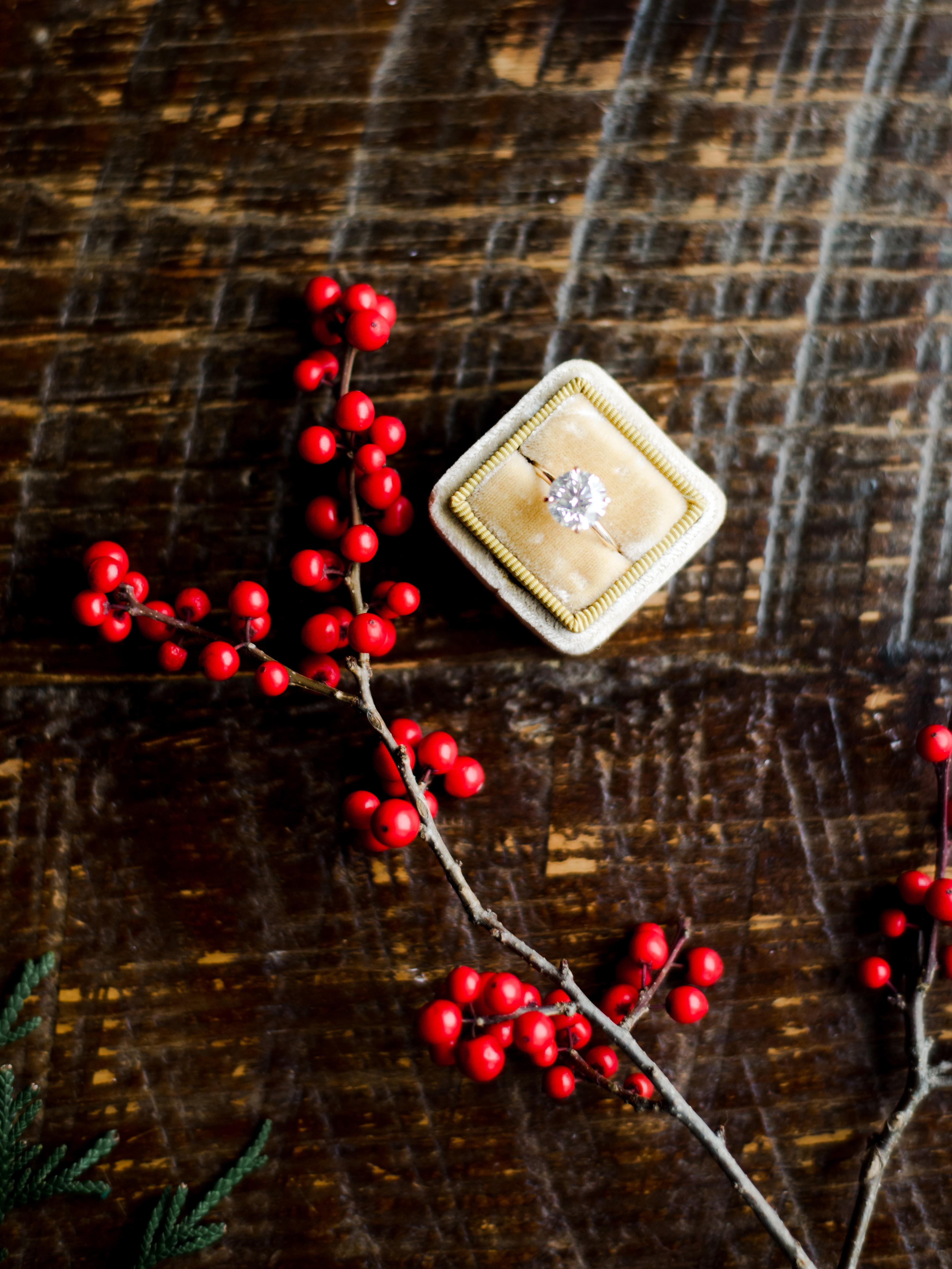 lauren christian christmas wedding engagement ring