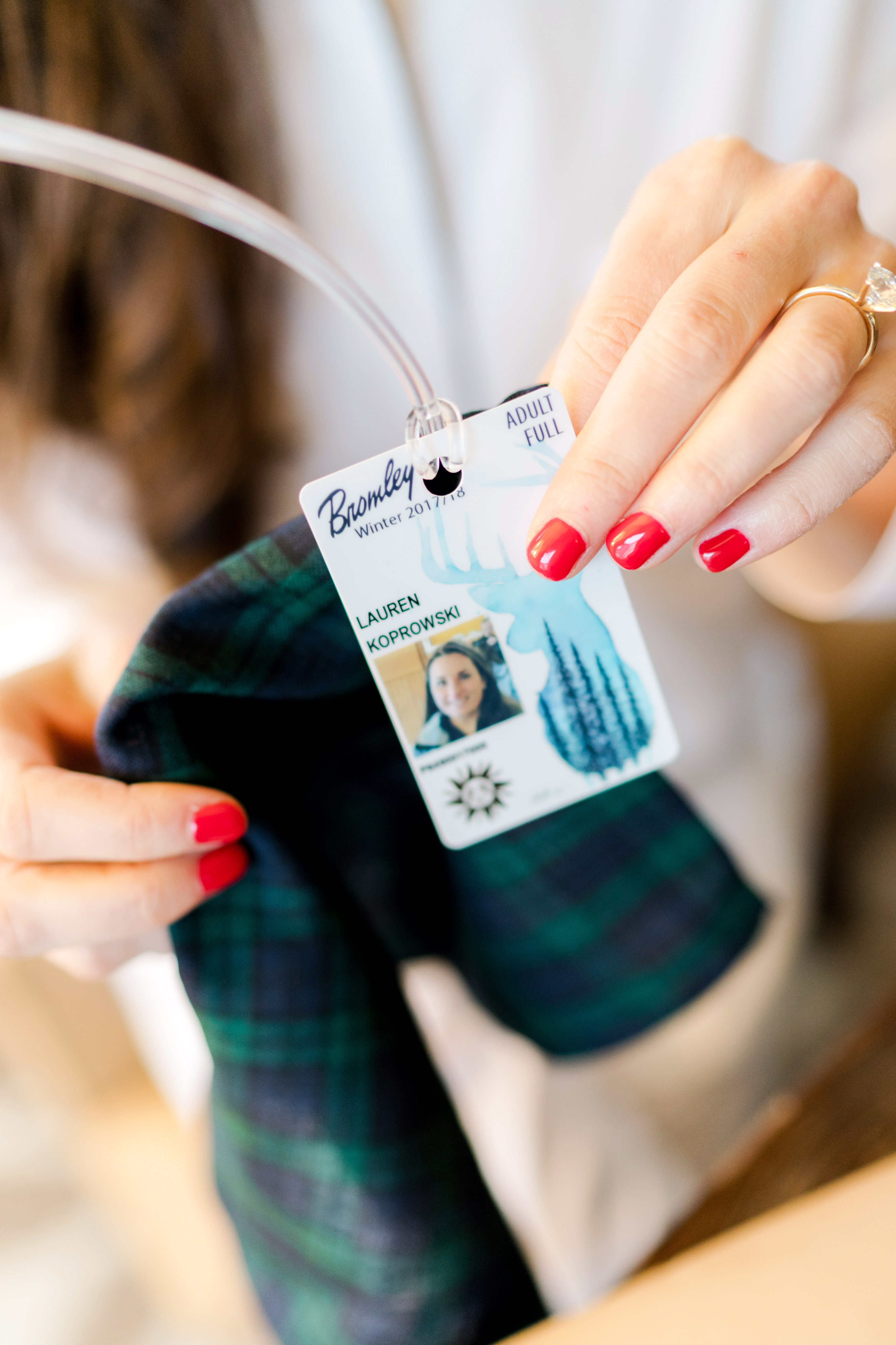lauren christian christmas wedding ski pass