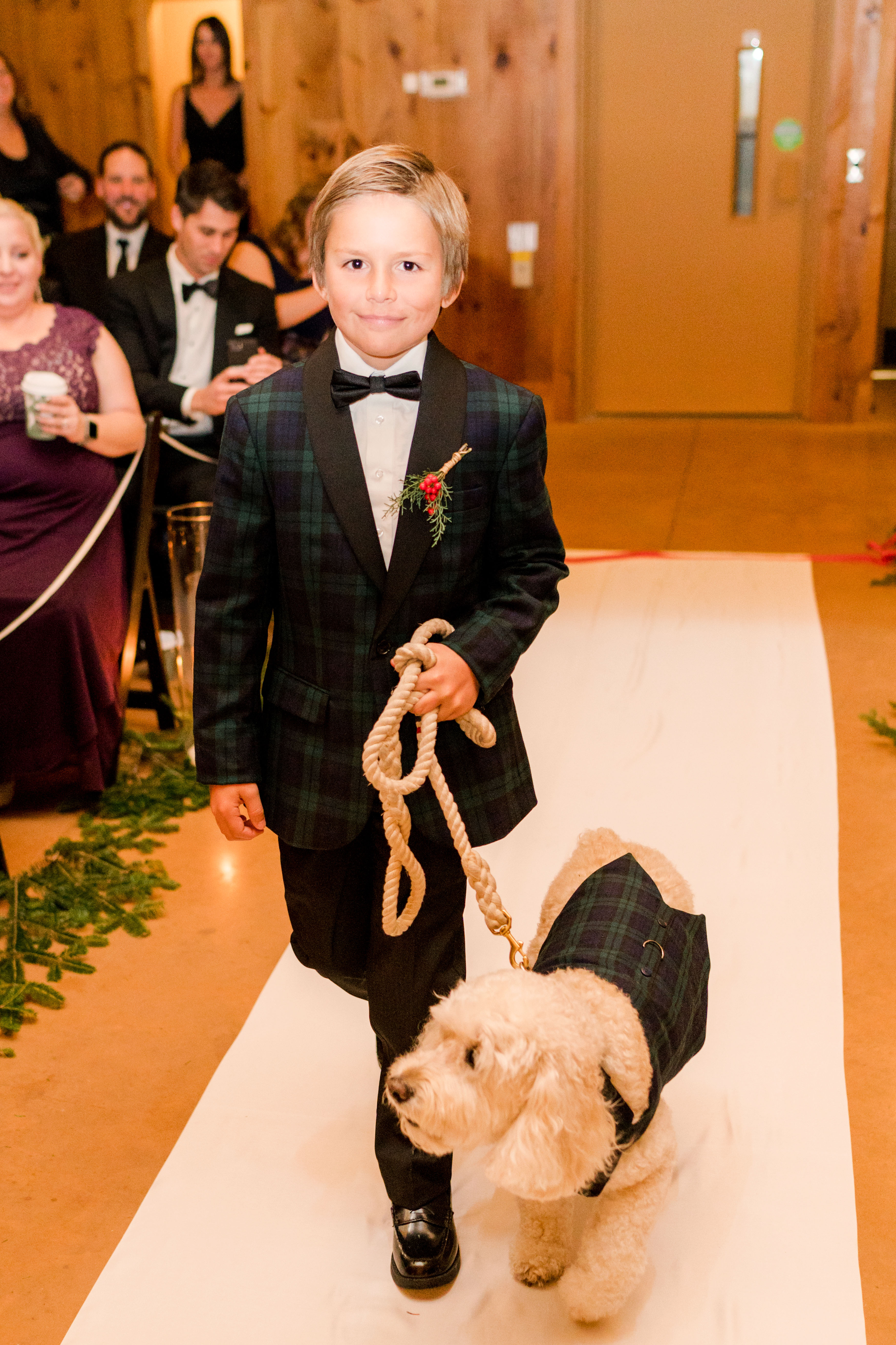 lauren christian christmas wedding ring bearer dog