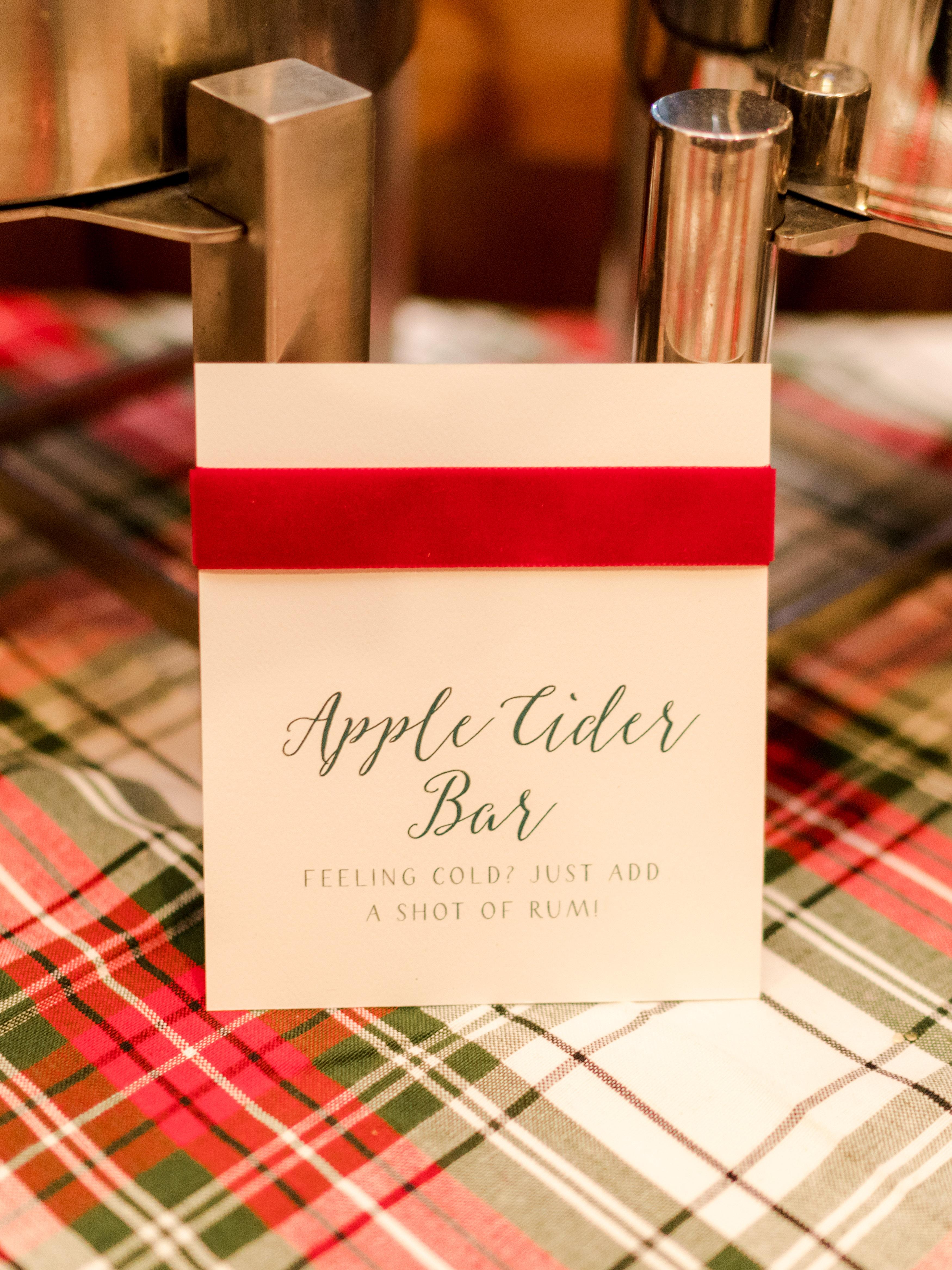 lauren christian christmas wedding apple cider
