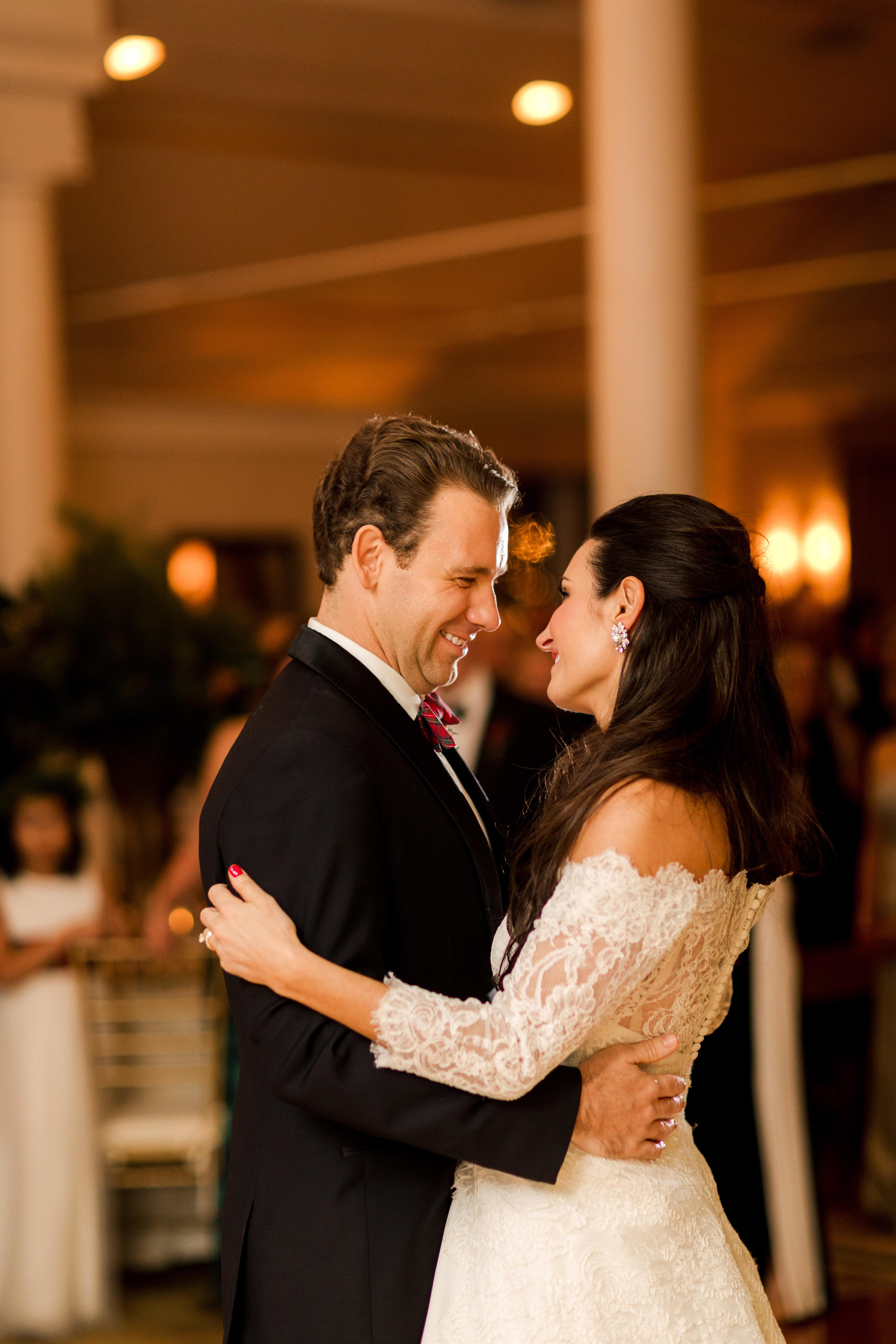lauren christian christmas wedding couple first dance
