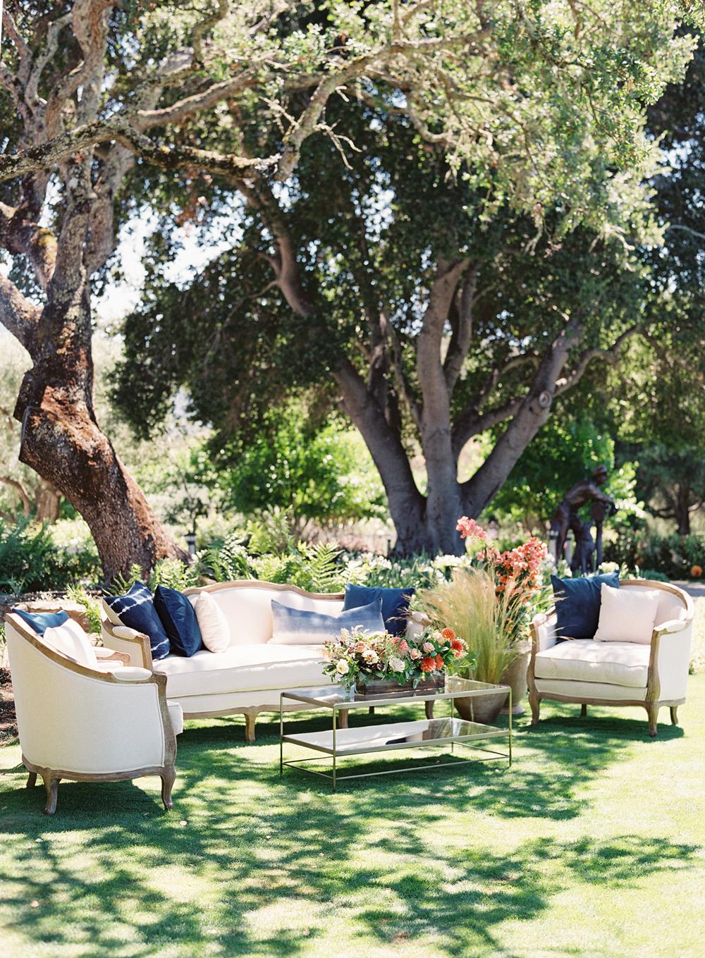 laurie michael wedding lounge beneath trees