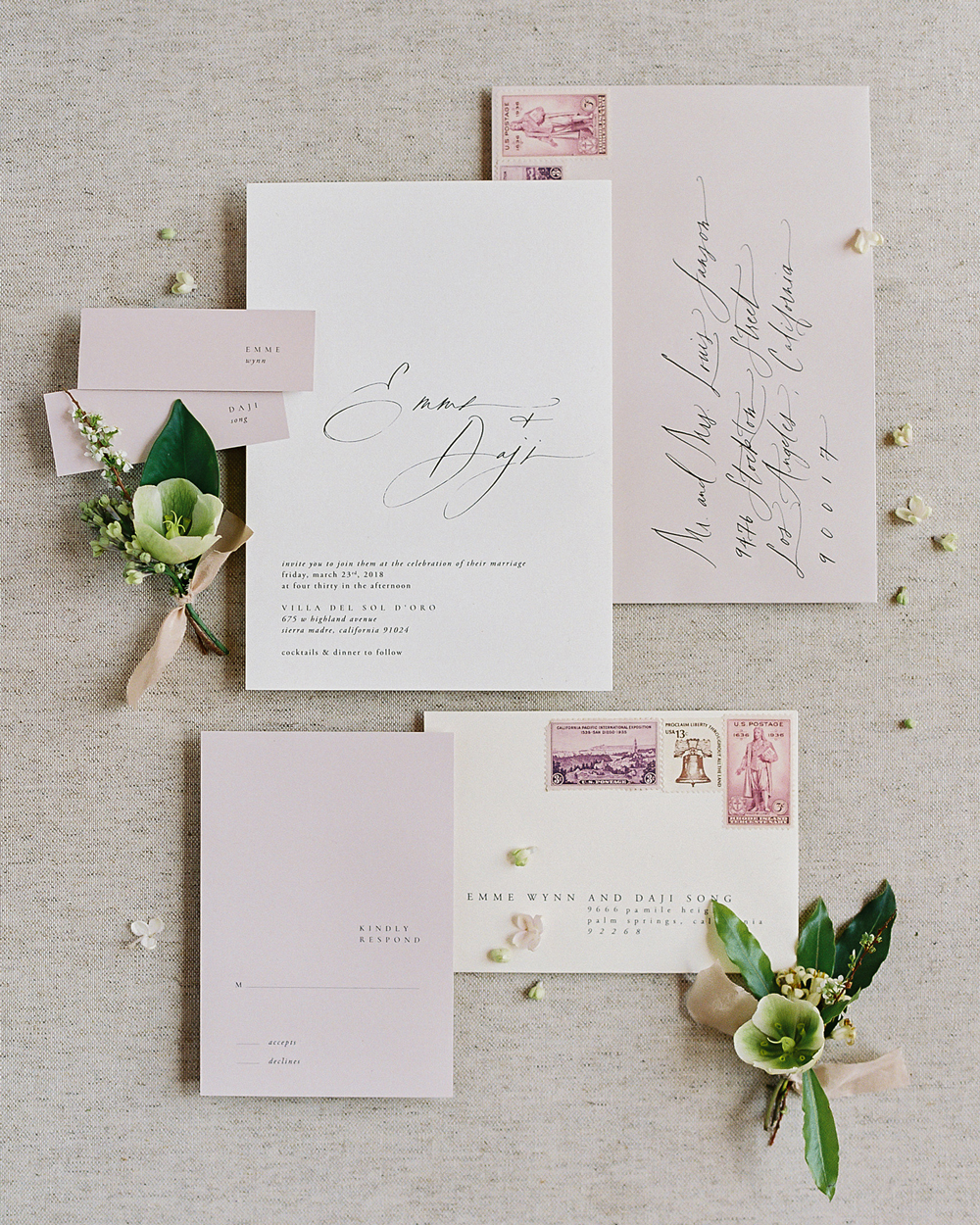 emme daji wedding stationary suite