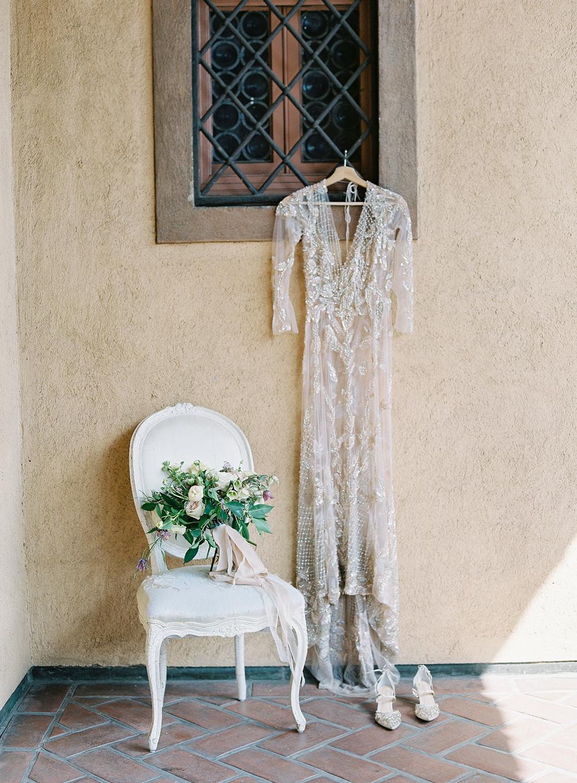 emme daji wedding dress and bouquet