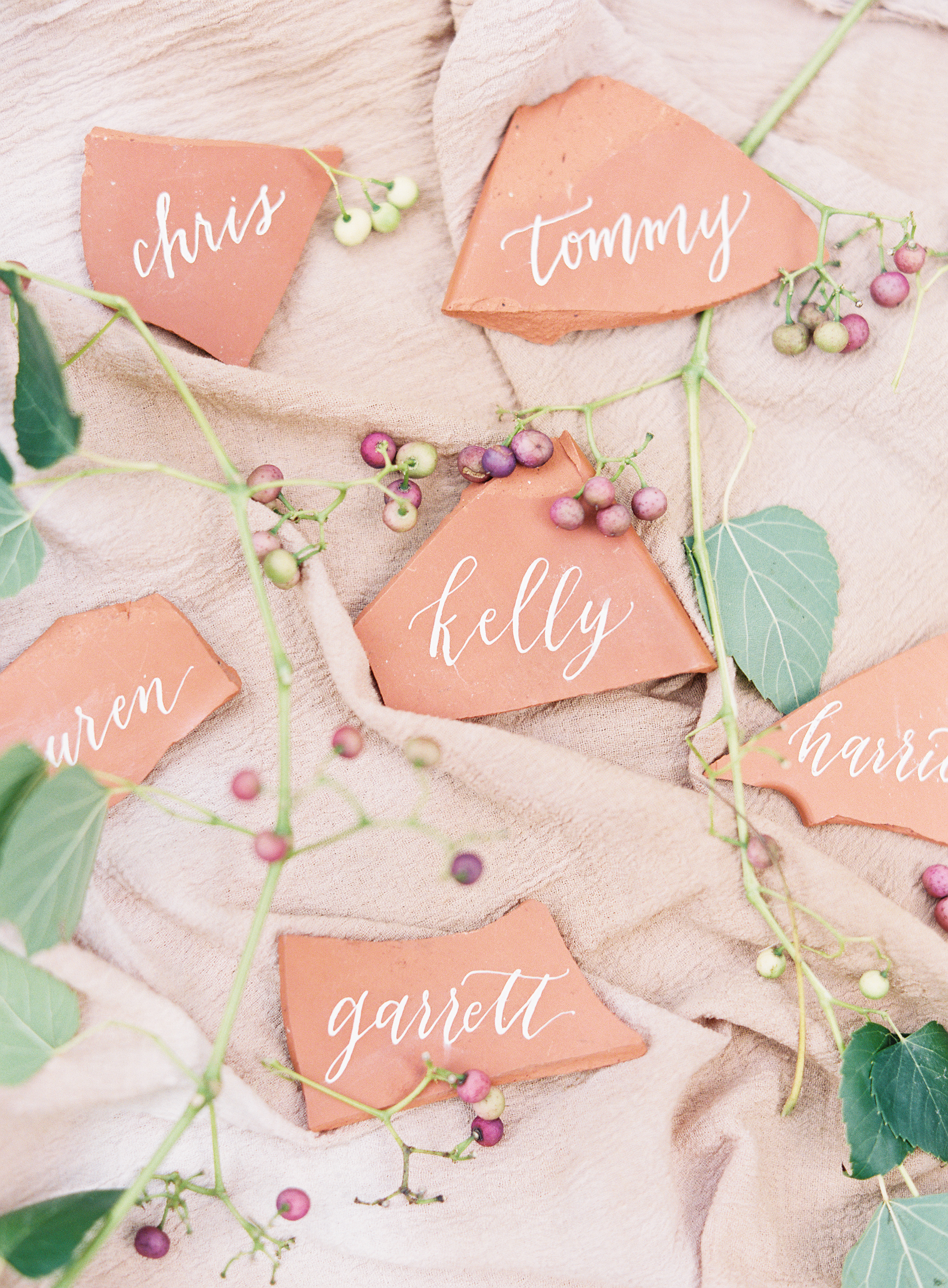 terra cotta name cards