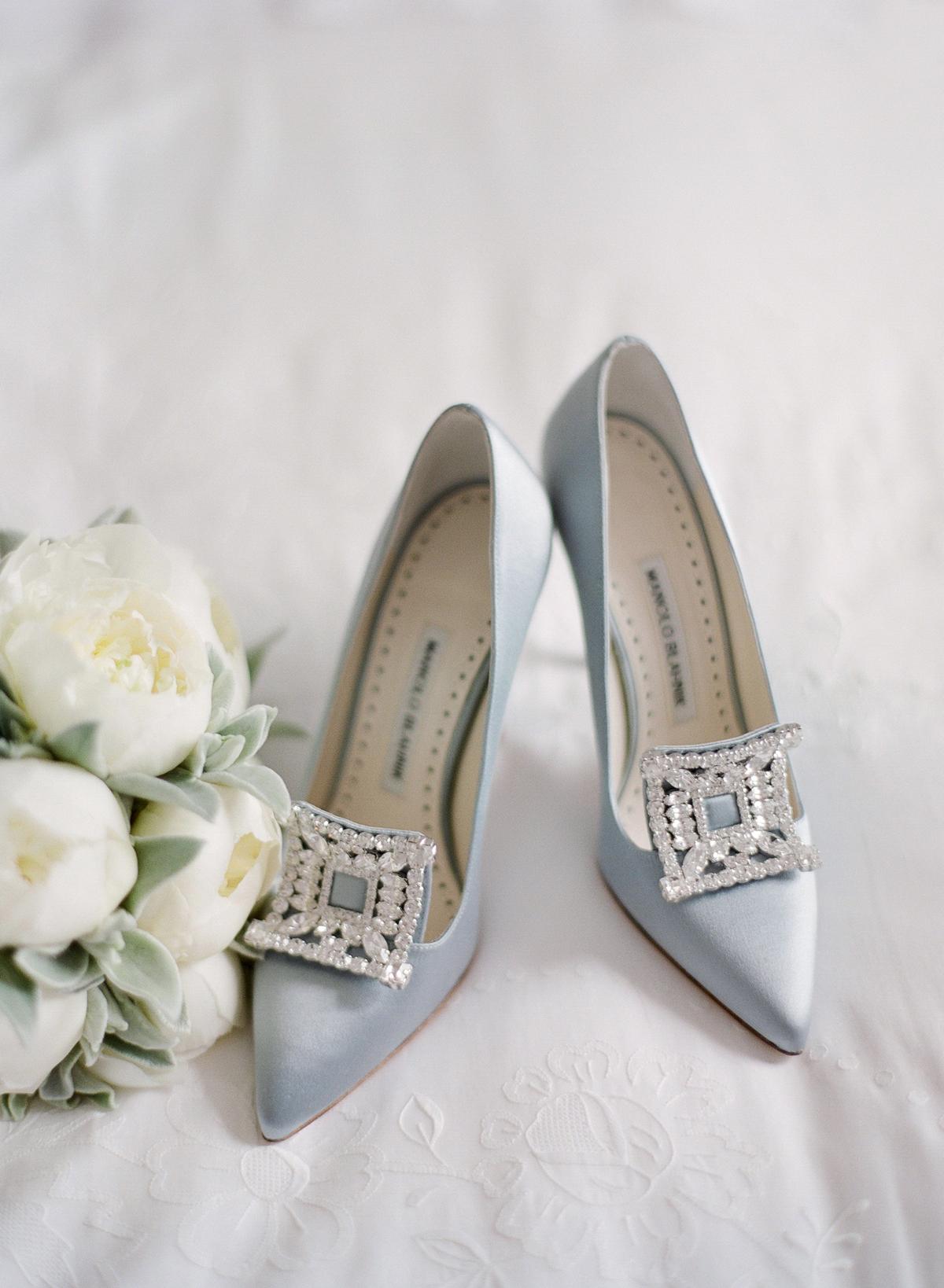 peony matthew england wedding pale blue high heels