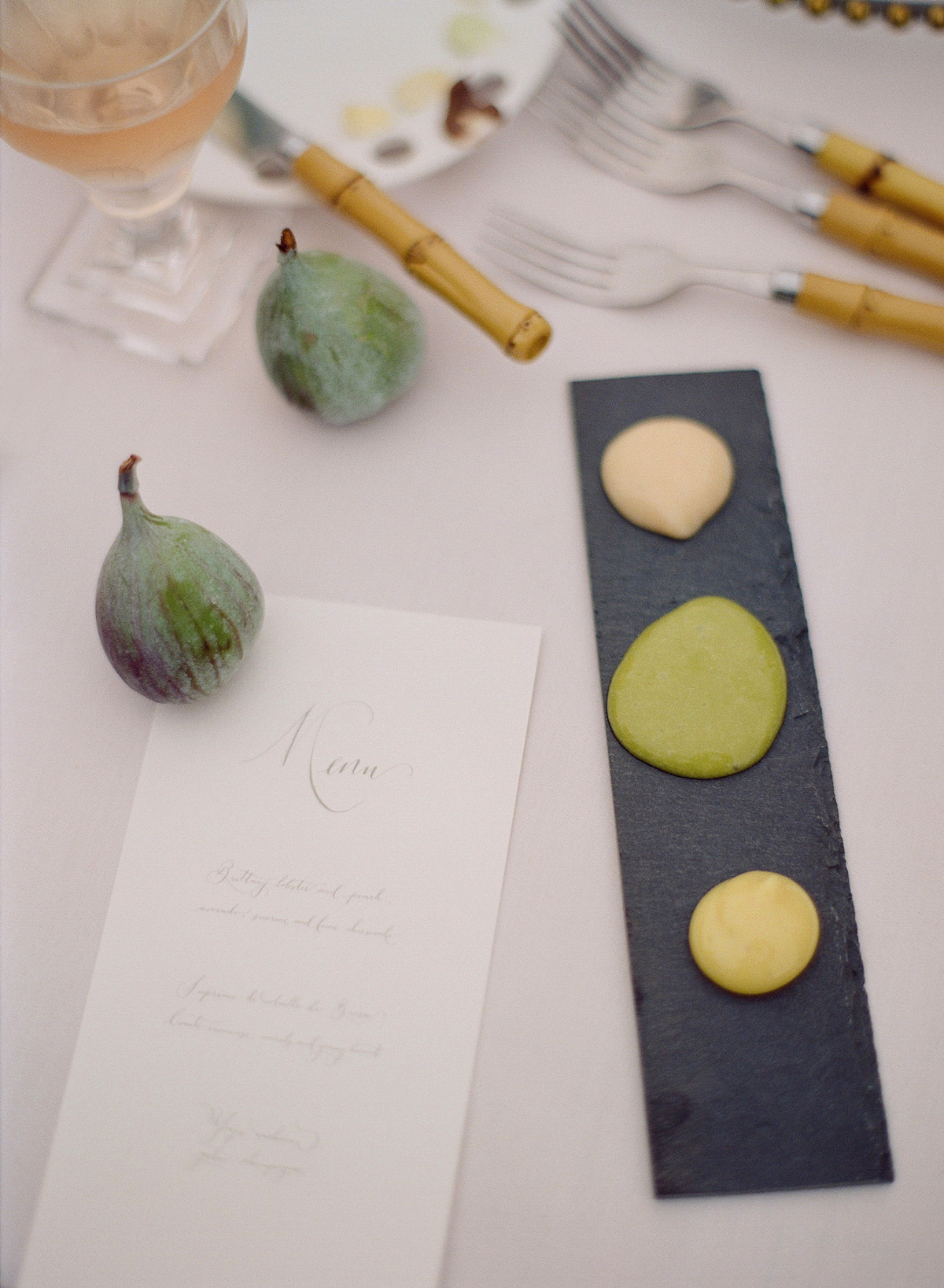 peony matthew england wedding menu with fig