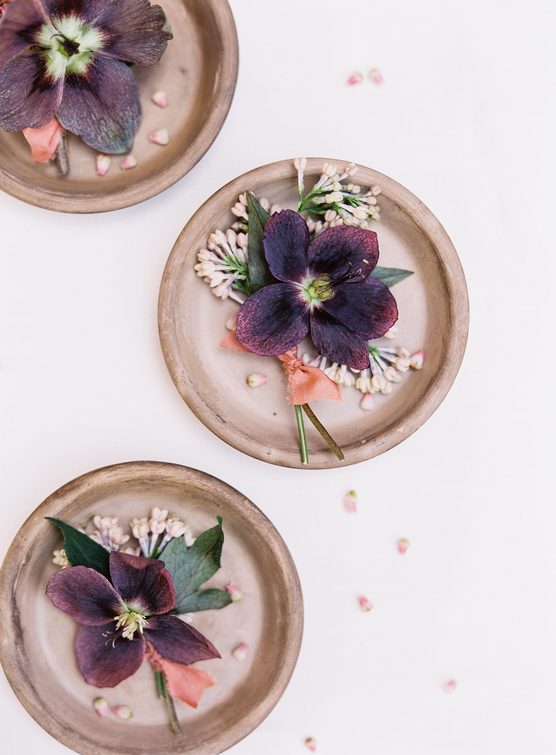 terra cotta wedding decor clay coasters