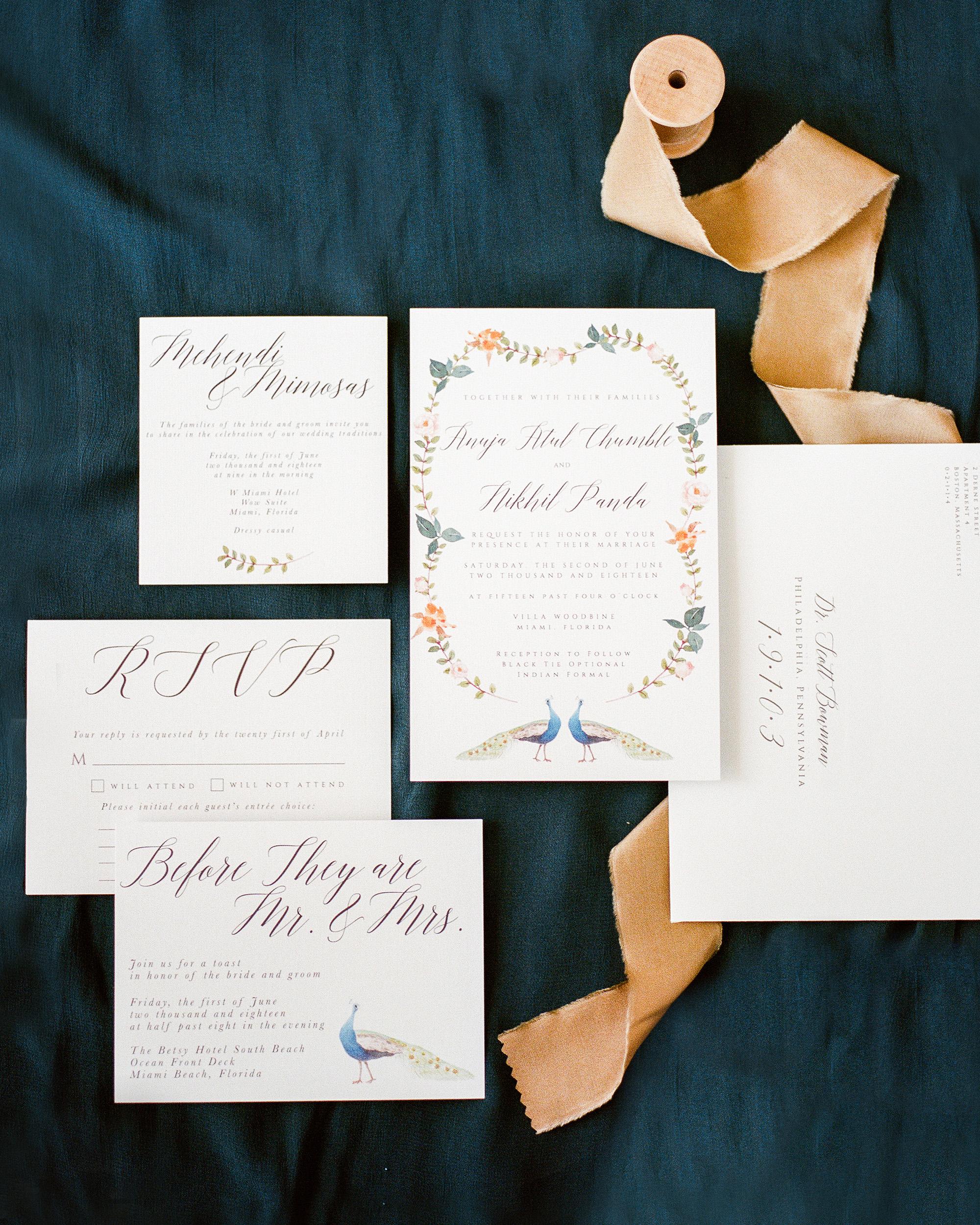 anuja nikhil wedding invitation suite