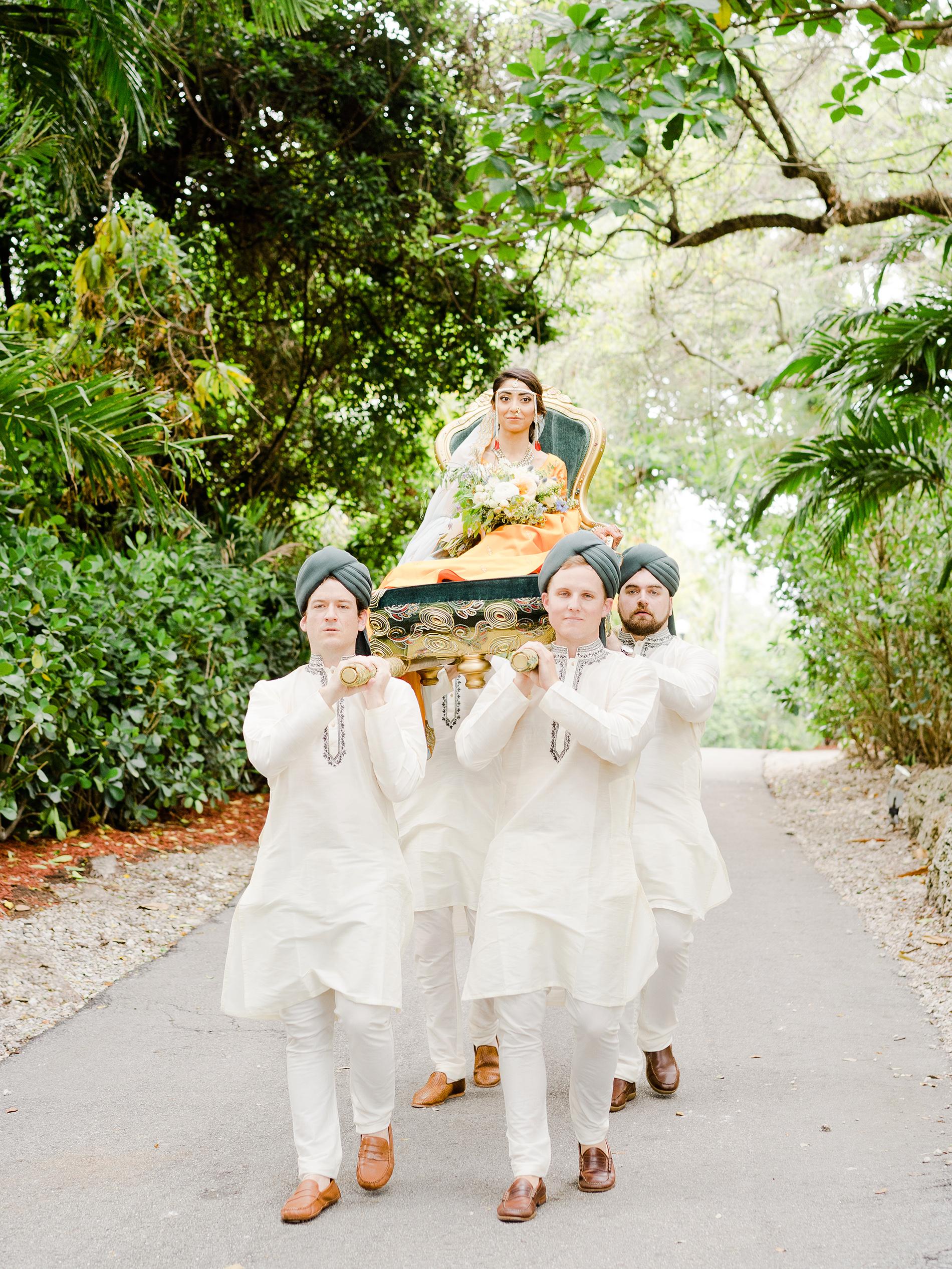 anuja nikhil wedding bride arrival